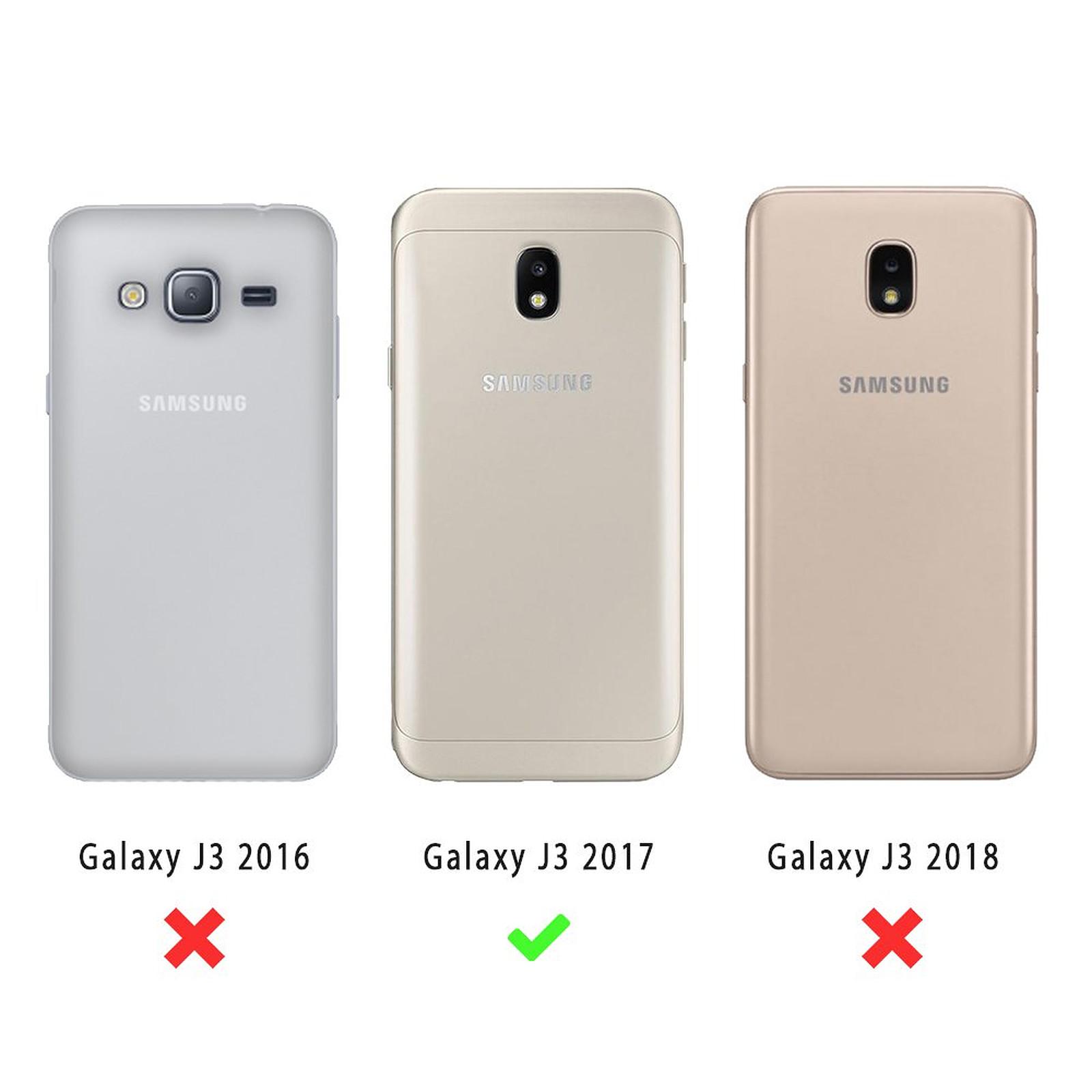EVETANE Coque Samsung Galaxy J3 2017 souple transparente Marbre blanc