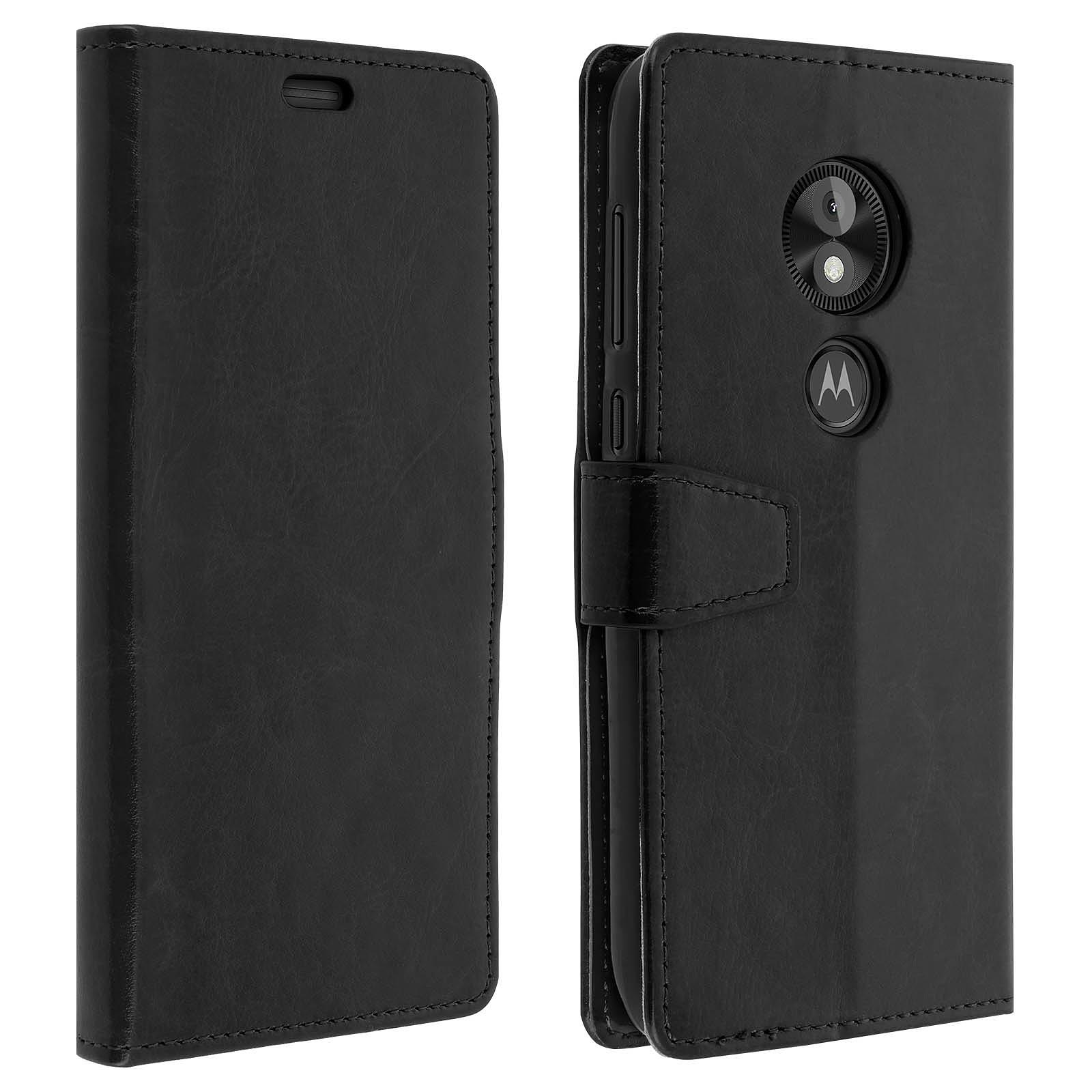Avizar Etui folio Noir pour Motorola Moto E5 Play