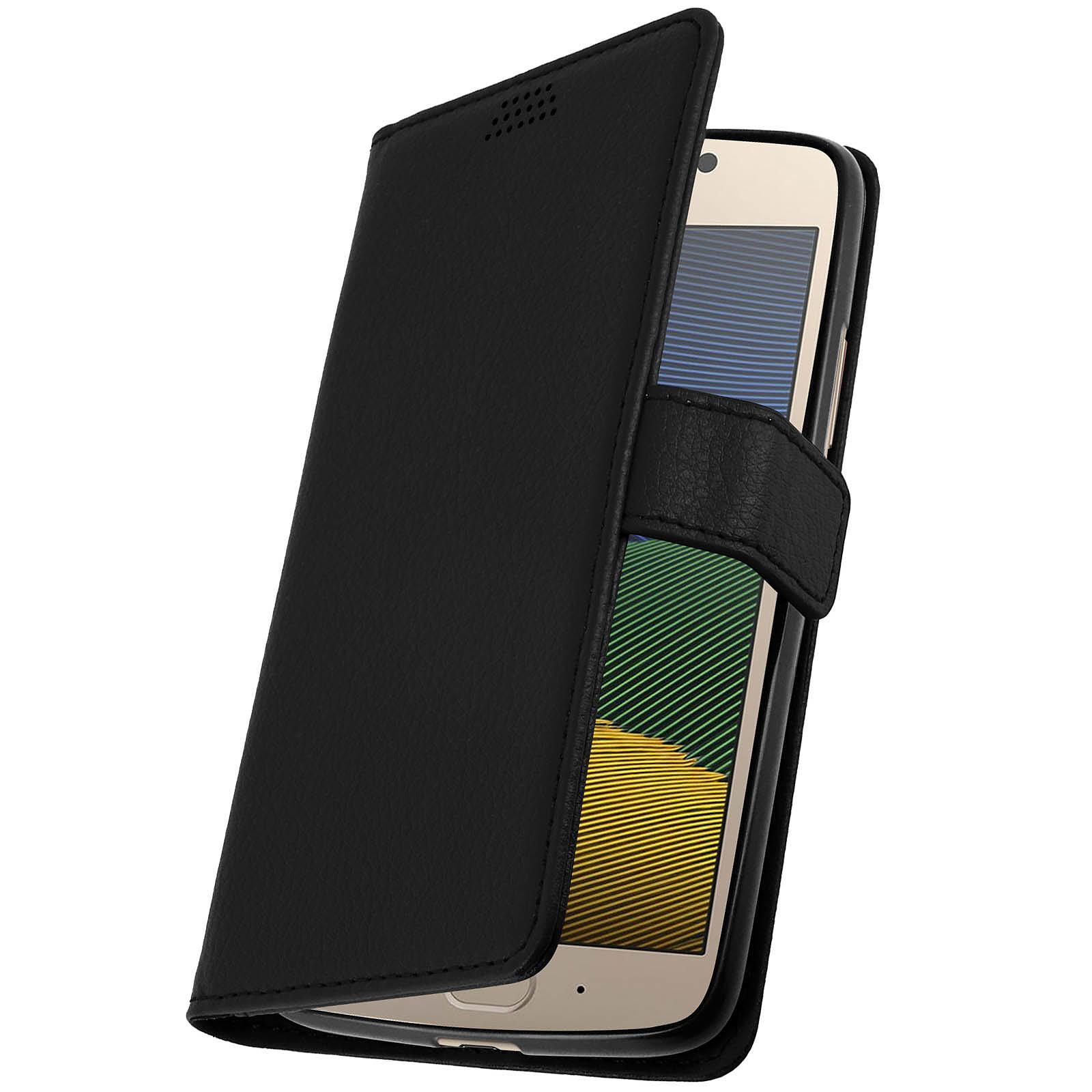 Avizar Etui folio Noir pour Motorola Moto G5 , Lenovo Moto G5