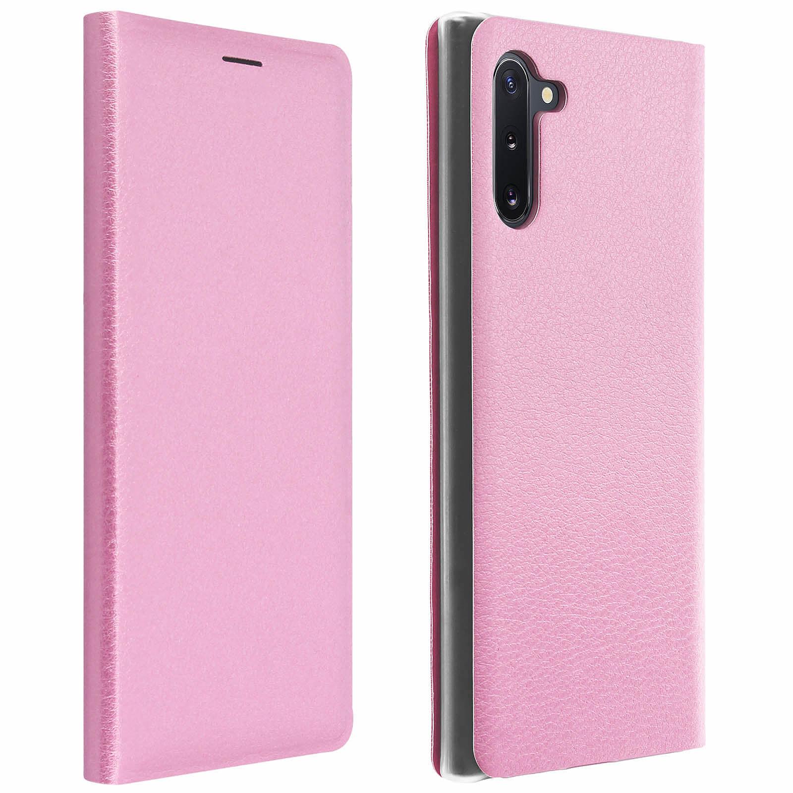 Avizar Etui folio Rose Portefeuille pour Samsung Galaxy Note 10
