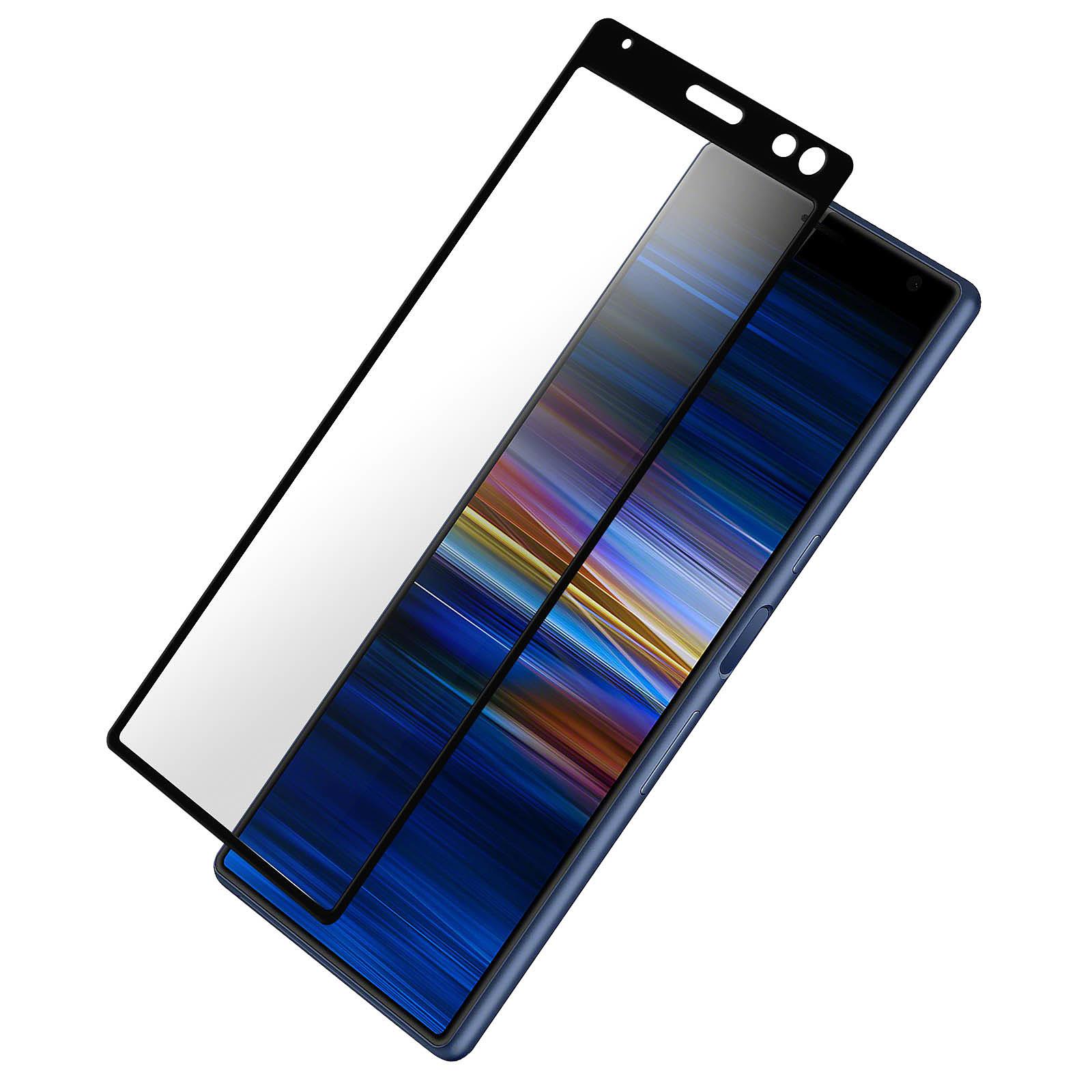 Avizar Film verre trempé Noir pour Sony Xperia 10 Plus