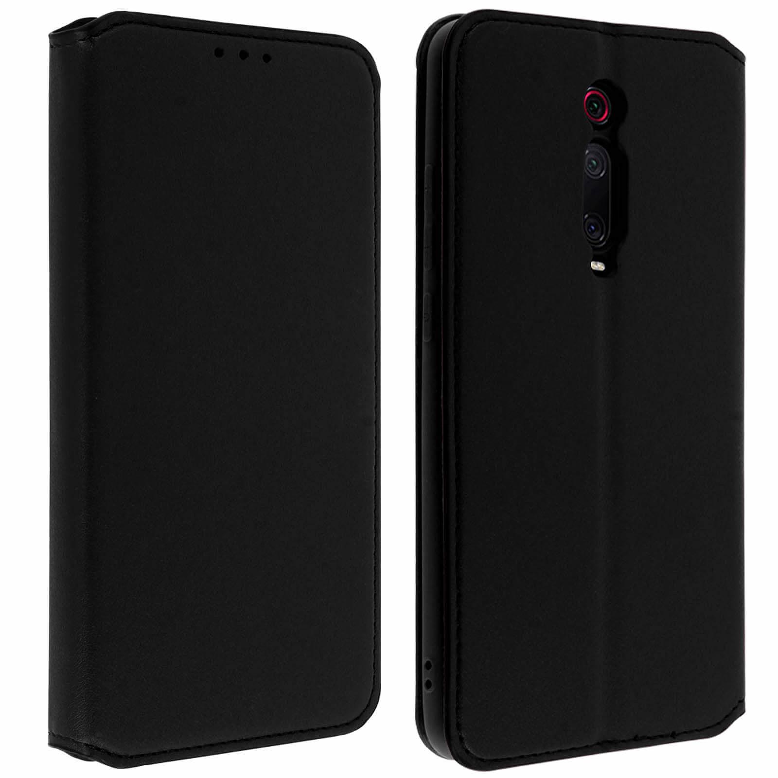 Avizar Etui folio Noir pour Xiaomi Mi 9T , Xiaomi Mi 9T Pro
