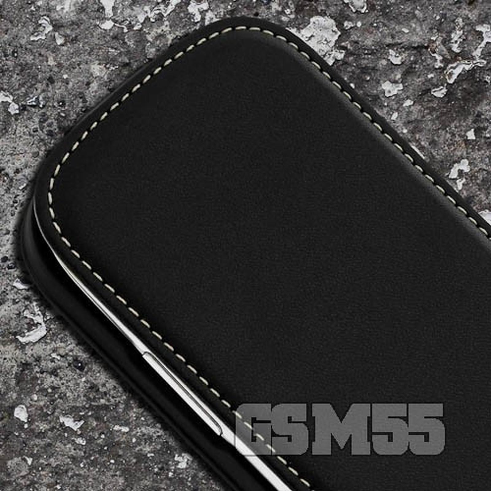 Avizar Etui à clapet Noir pour Samsung Galaxy S3 Mini