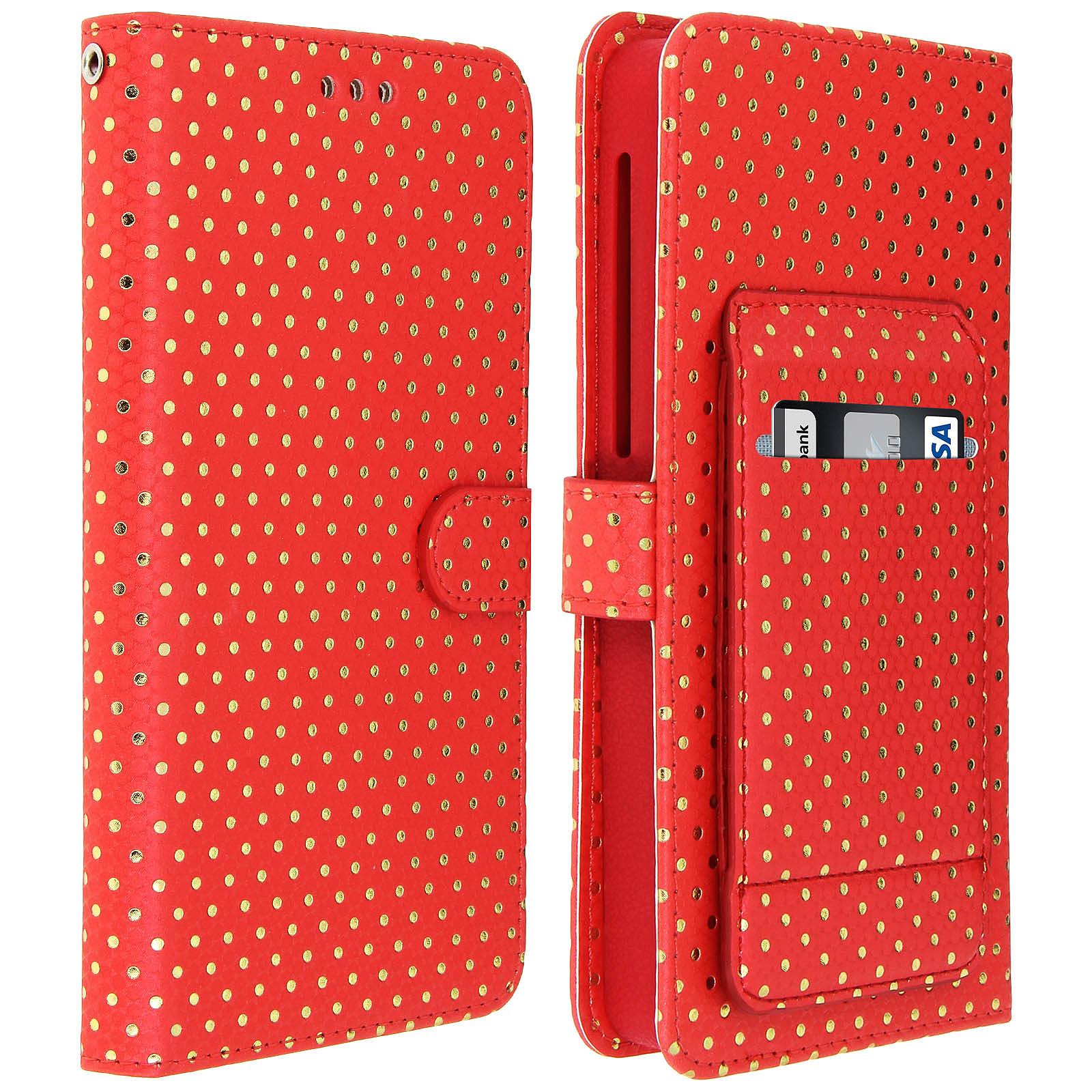Avizar Etui folio Rouge pour Smartphones de 5.0' à 5.3'