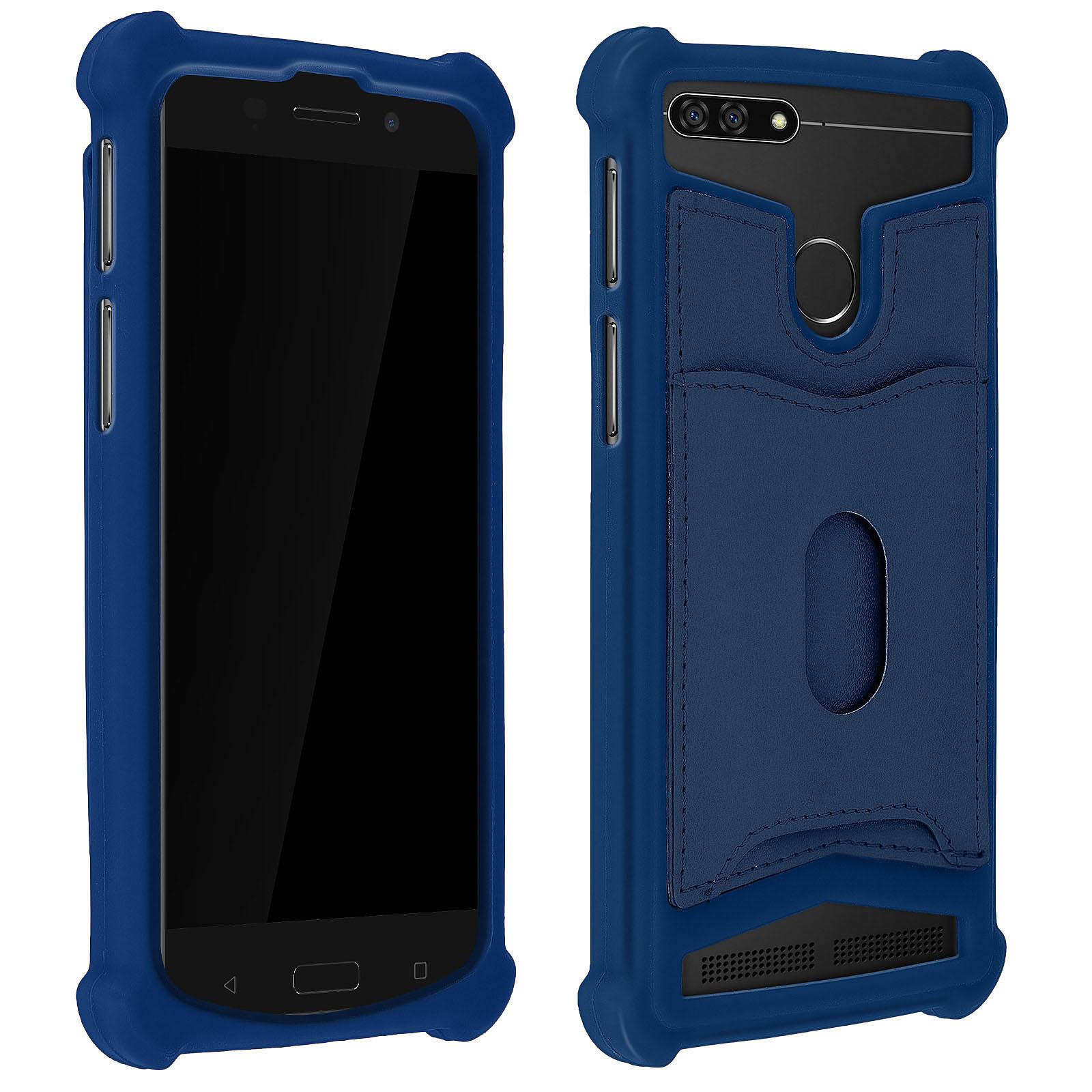 Avizar Coque Bleu Nuit pour Compatibles avec Smartphones de 5,3 à 5,5 pouces
