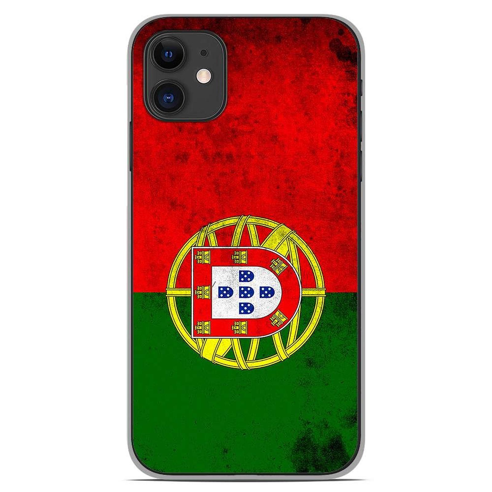 1001 Coques Coque silicone gel Apple iPhone 11 motif Drapeau Portugal