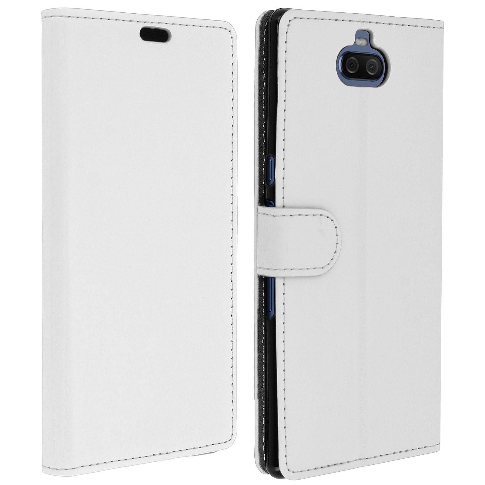 Avizar Etui folio Blanc pour Sony Xperia 10 Plus