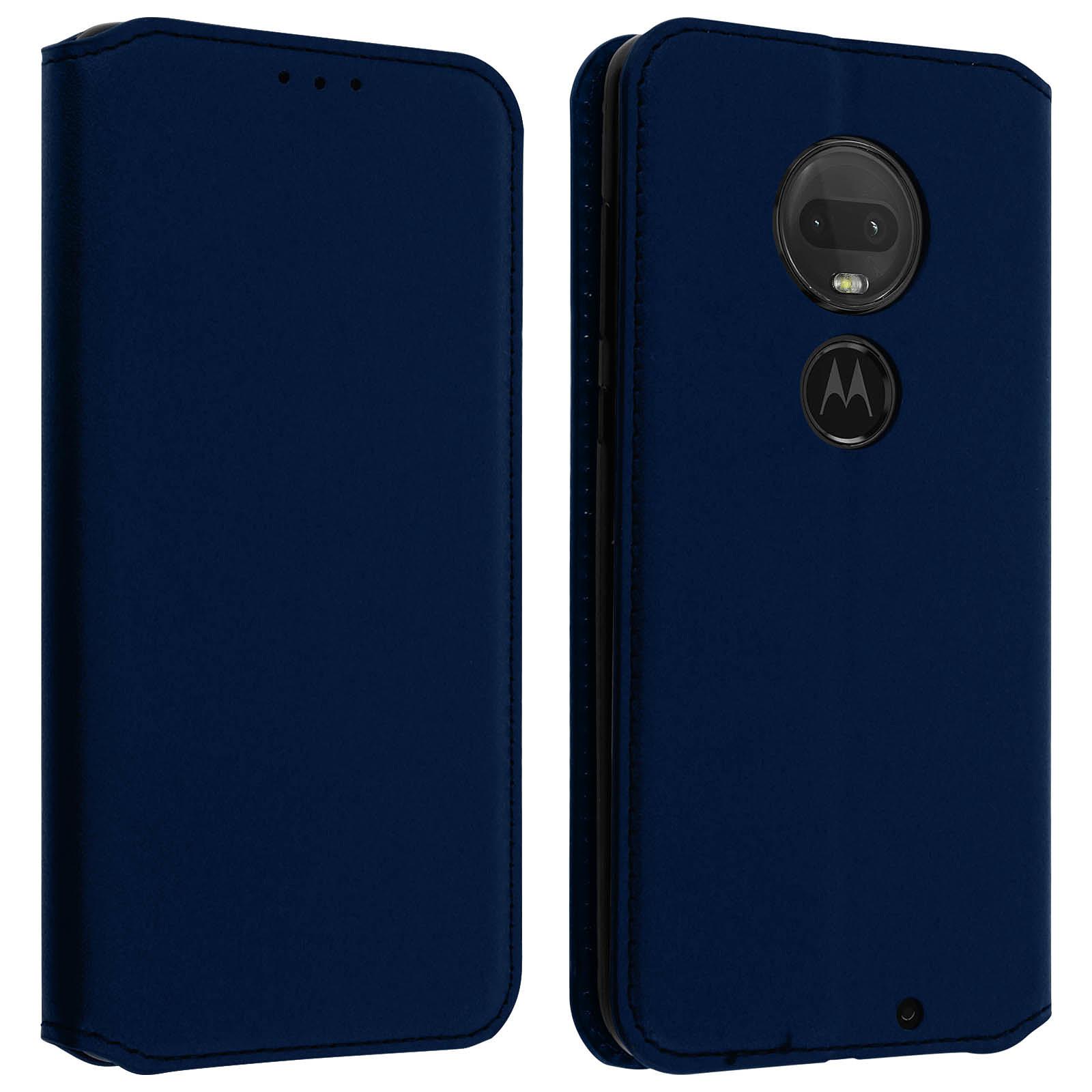 Avizar Etui folio Bleu Nuit pour Motorola Moto G7 Power