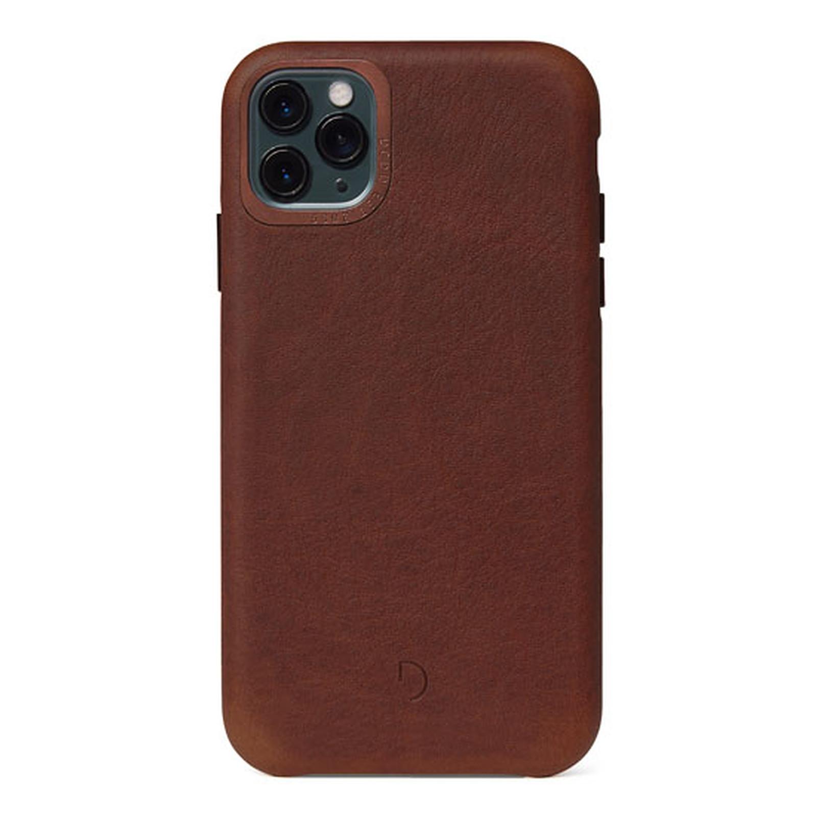 DECODED Coque en cuir iPhone 11 Pro Max Marron