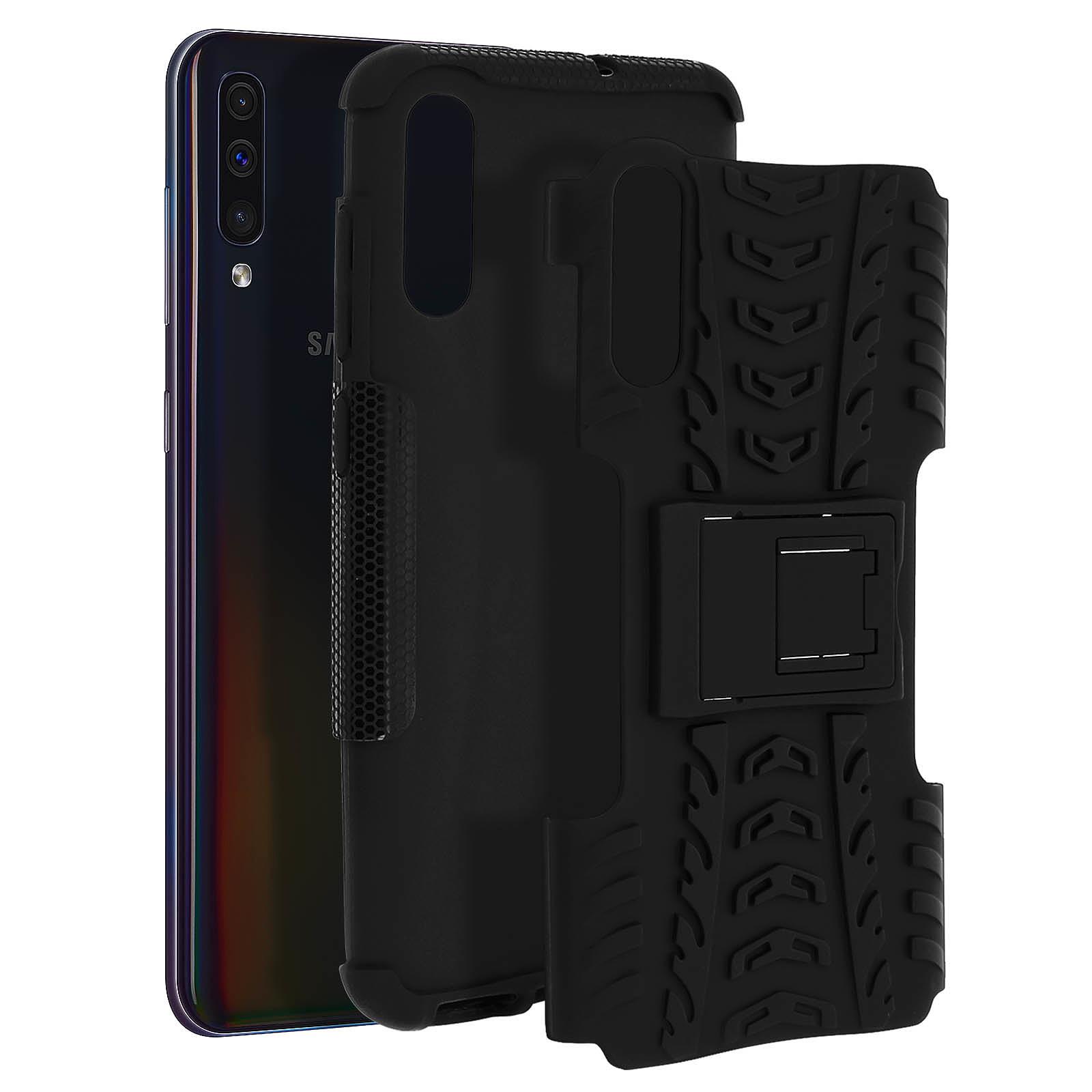 Avizar Coque Noir Hybride pour Samsung Galaxy A50