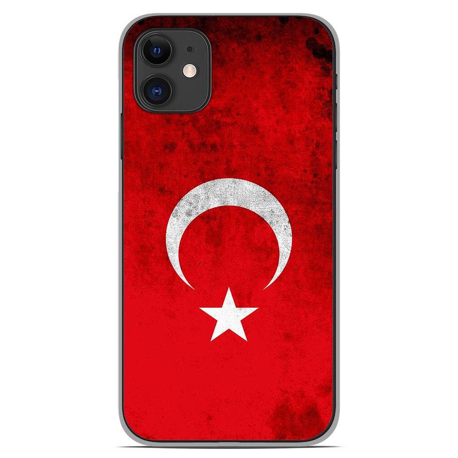 1001 Coques Coque silicone gel Apple iPhone 11 motif Drapeau Turquie