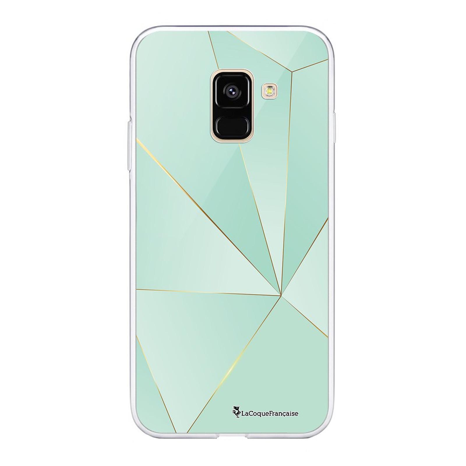 LA COQUE FRANCAISE Coque Samsung Galaxy A8 2018 souple Vert géométrique - Coque téléphone LaCoqueFrançaise sur LDLC