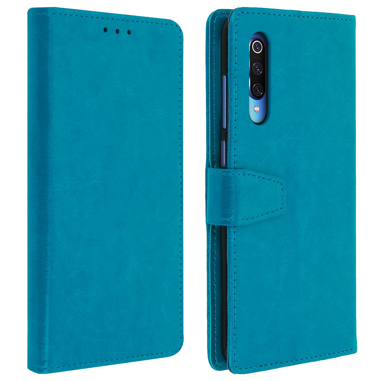 Avizar Etui folio Bleu Nuit pour Xiaomi Mi 9