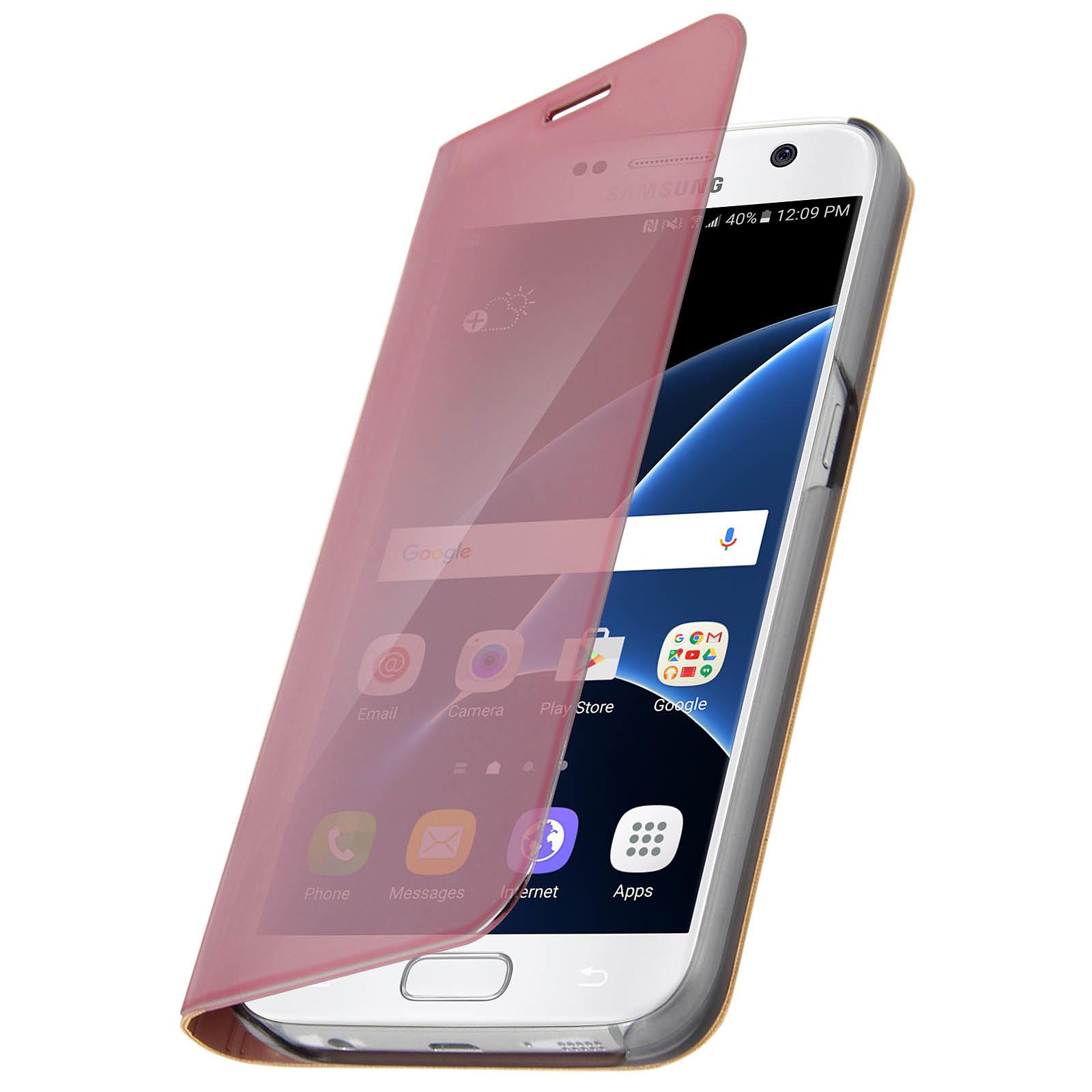 Avizar Etui folio Rose pour Samsung Galaxy S7