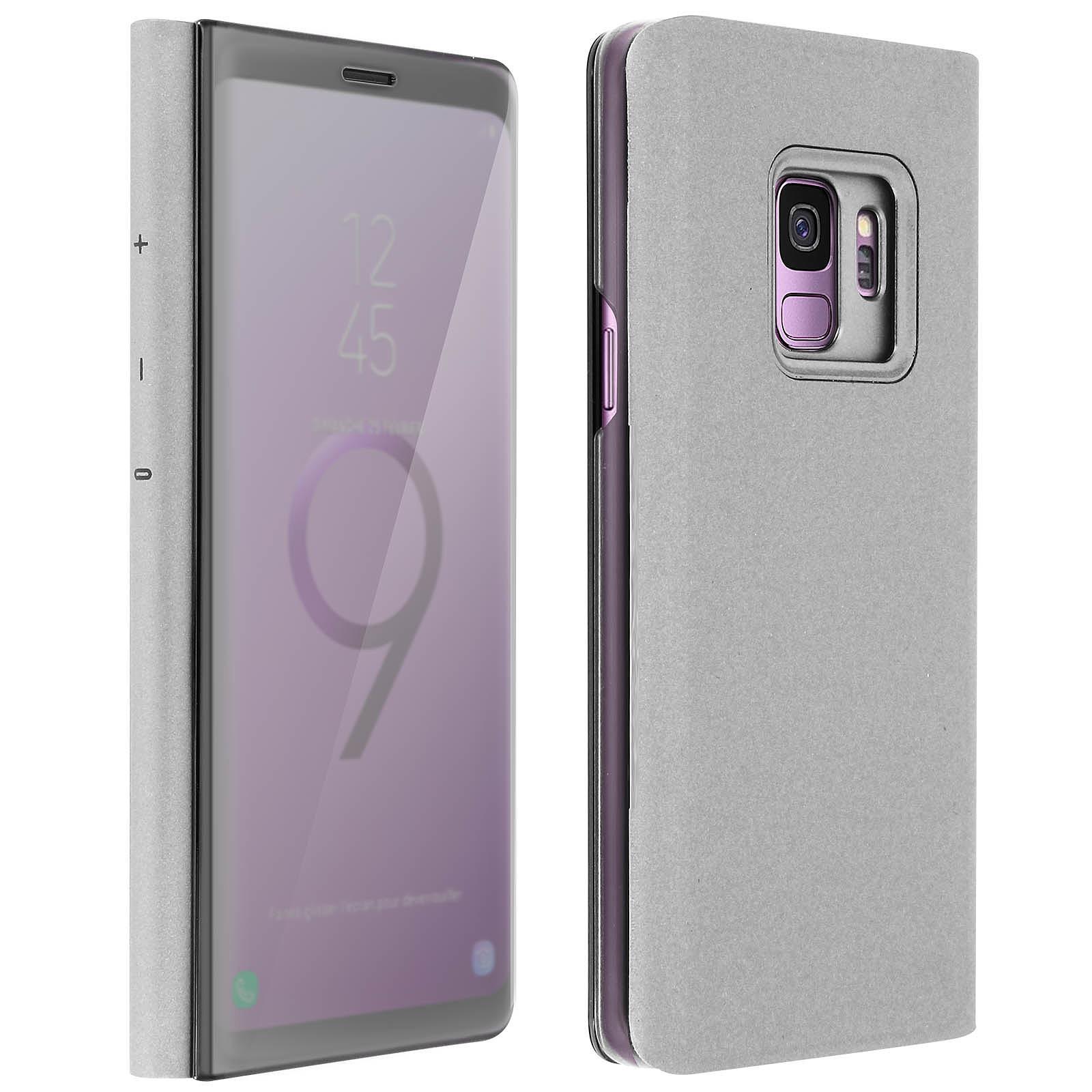 Avizar Etui folio Argent pour Samsung Galaxy S9
