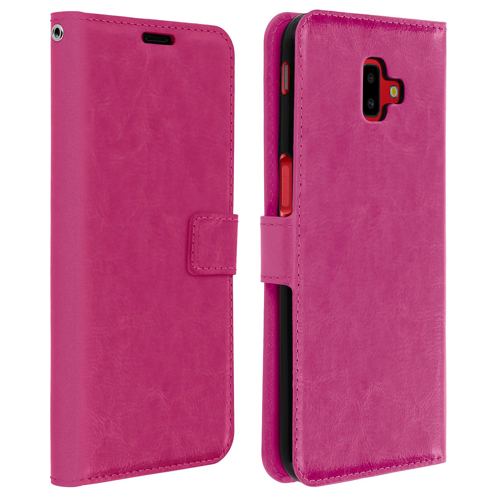 Avizar Etui folio Fuchsia pour Samsung Galaxy J6 Plus