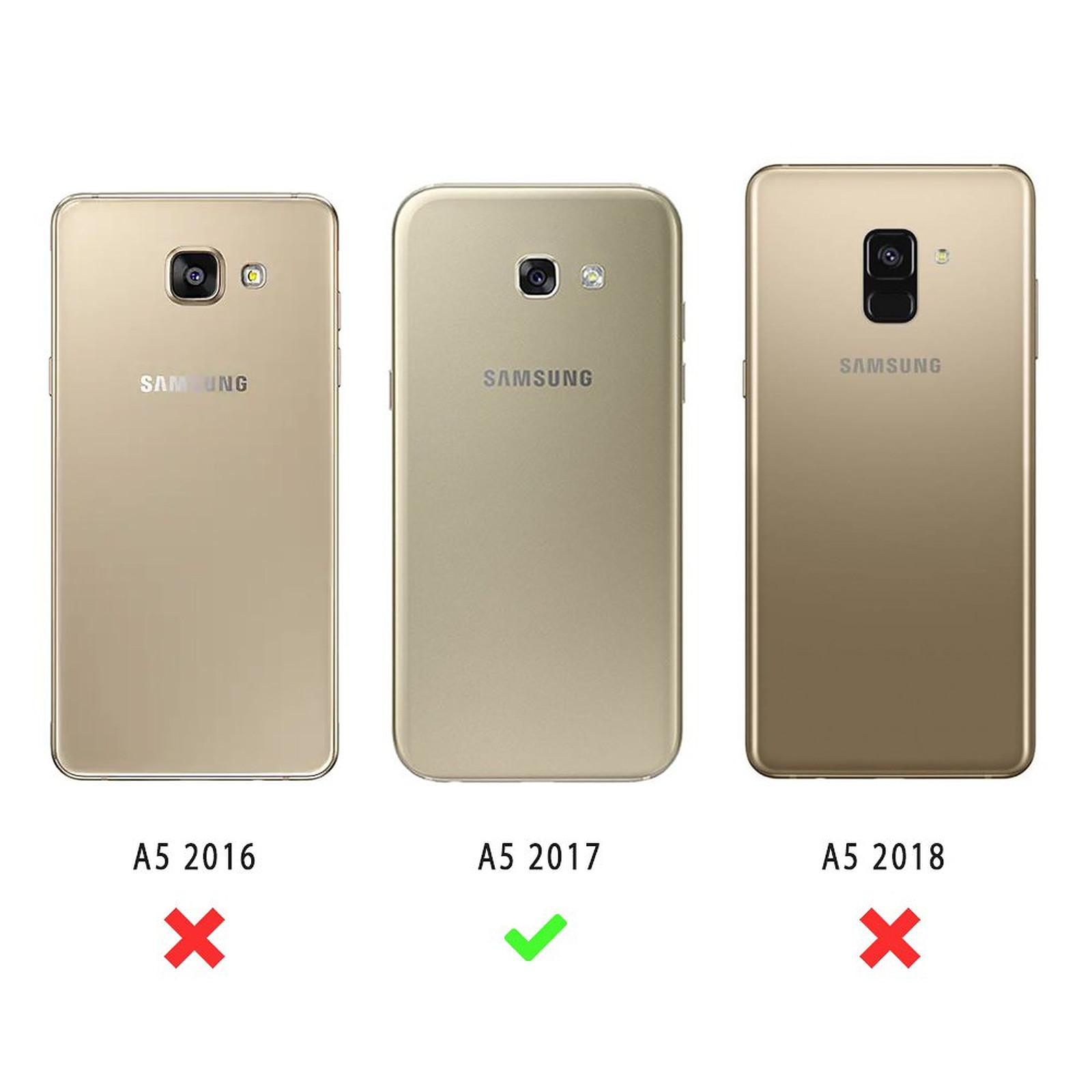 EVETANE Coque Samsung Galaxy A5 2017 souple transparente Chat licorne