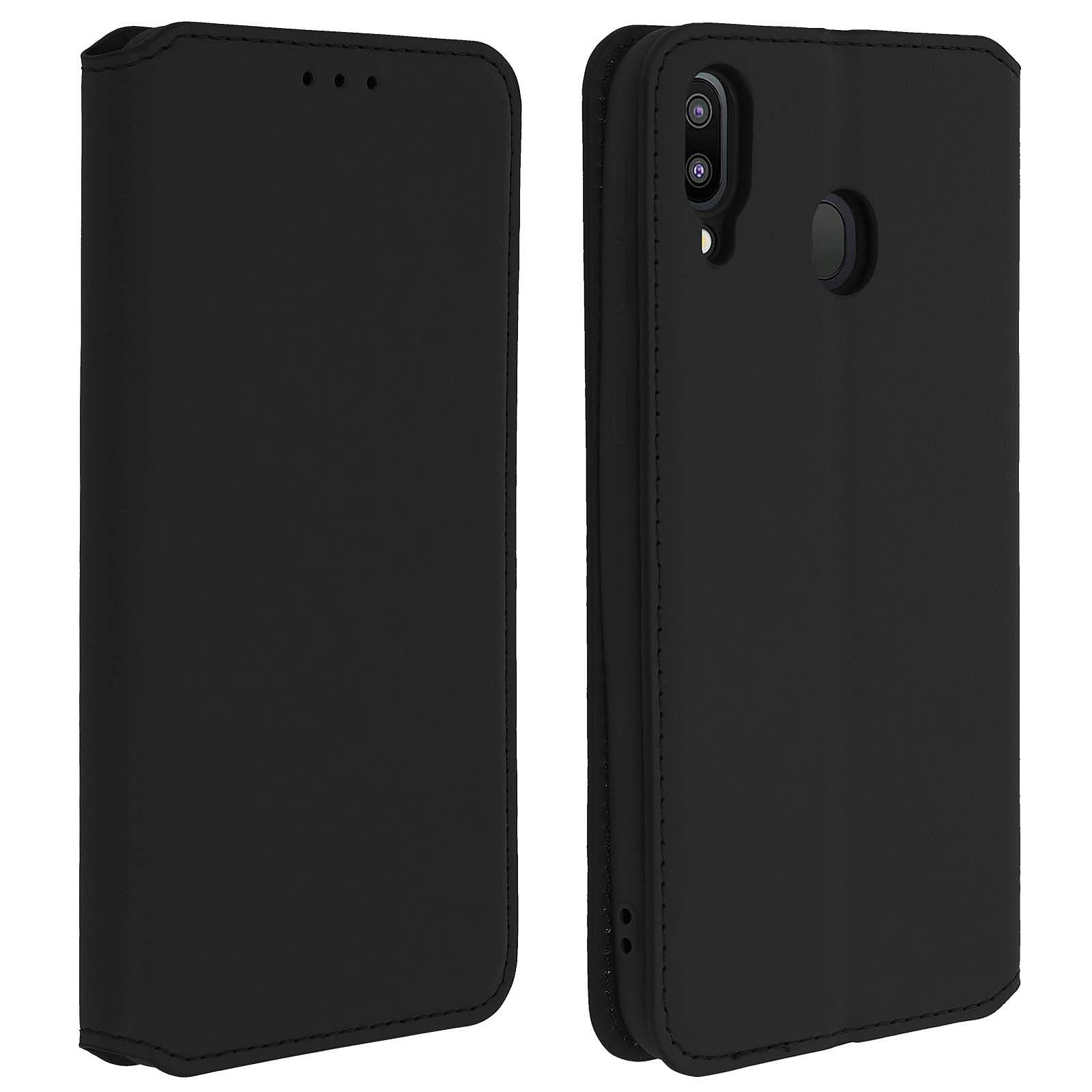 Avizar Etui folio Noir pour Samsung Galaxy M20