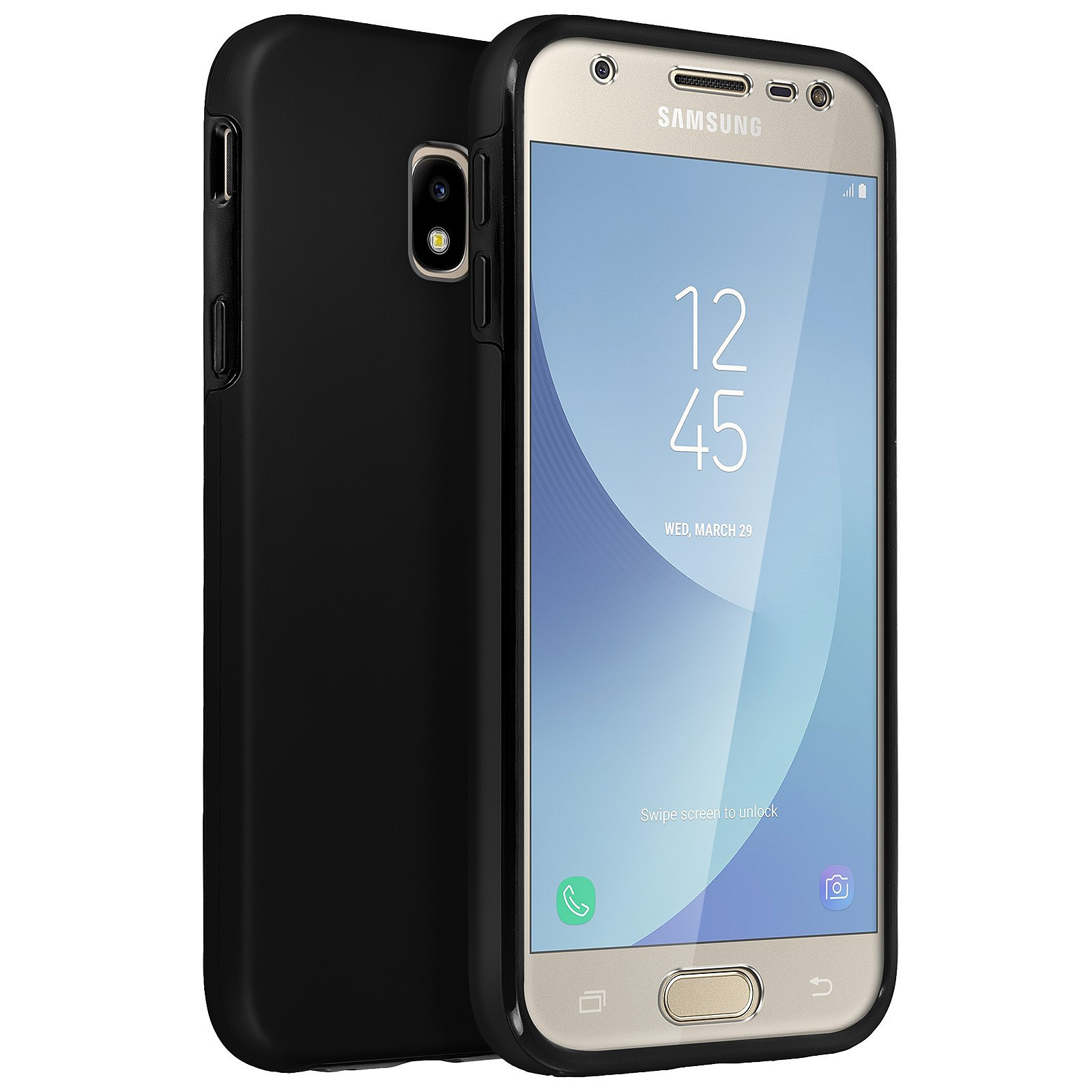 Avizar Coque Noir pour Samsung Galaxy J3 2017