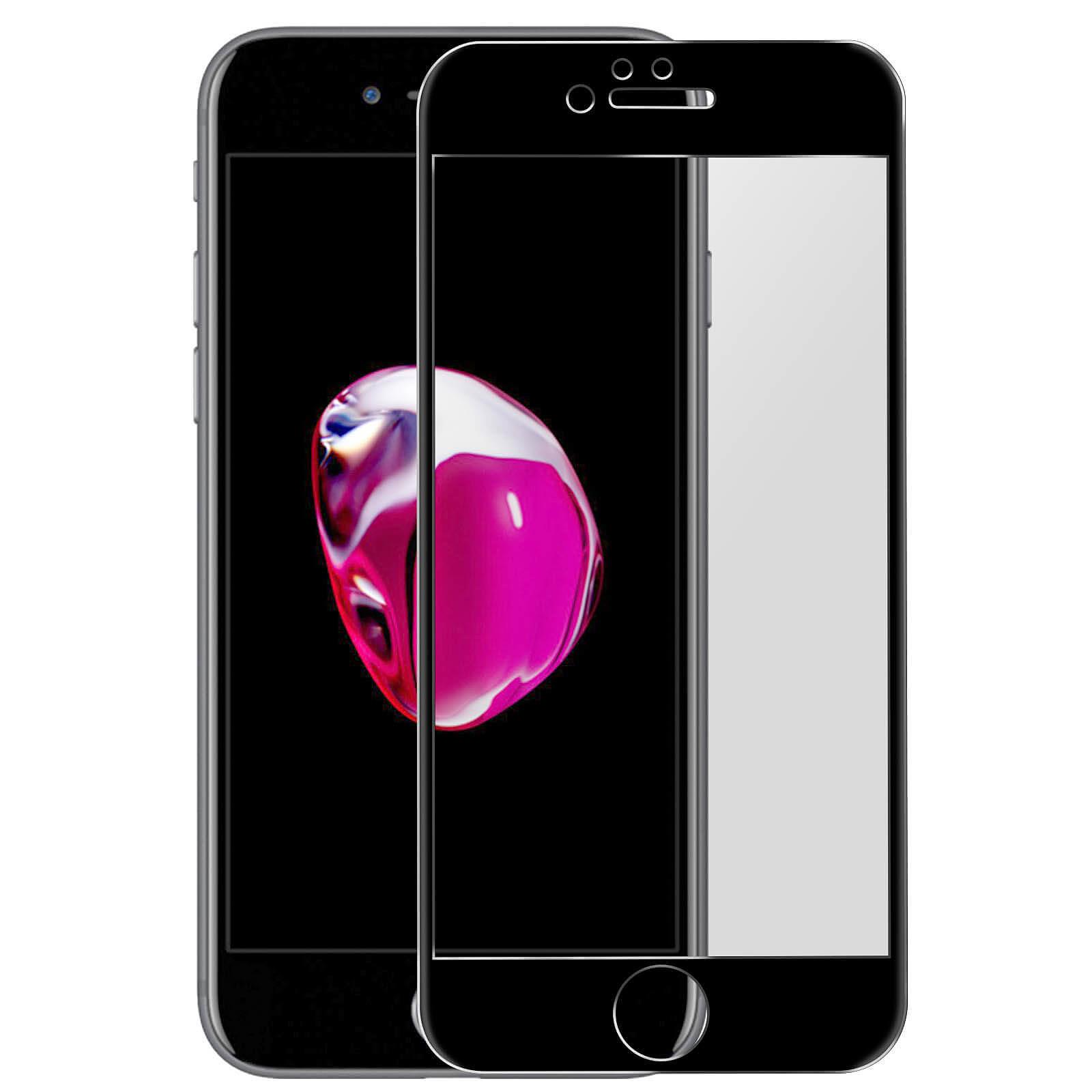Avizar Film verre trempé Noir pour Apple iPhone 7 , Apple iPhone 8 , Apple iPhone SE 2020
