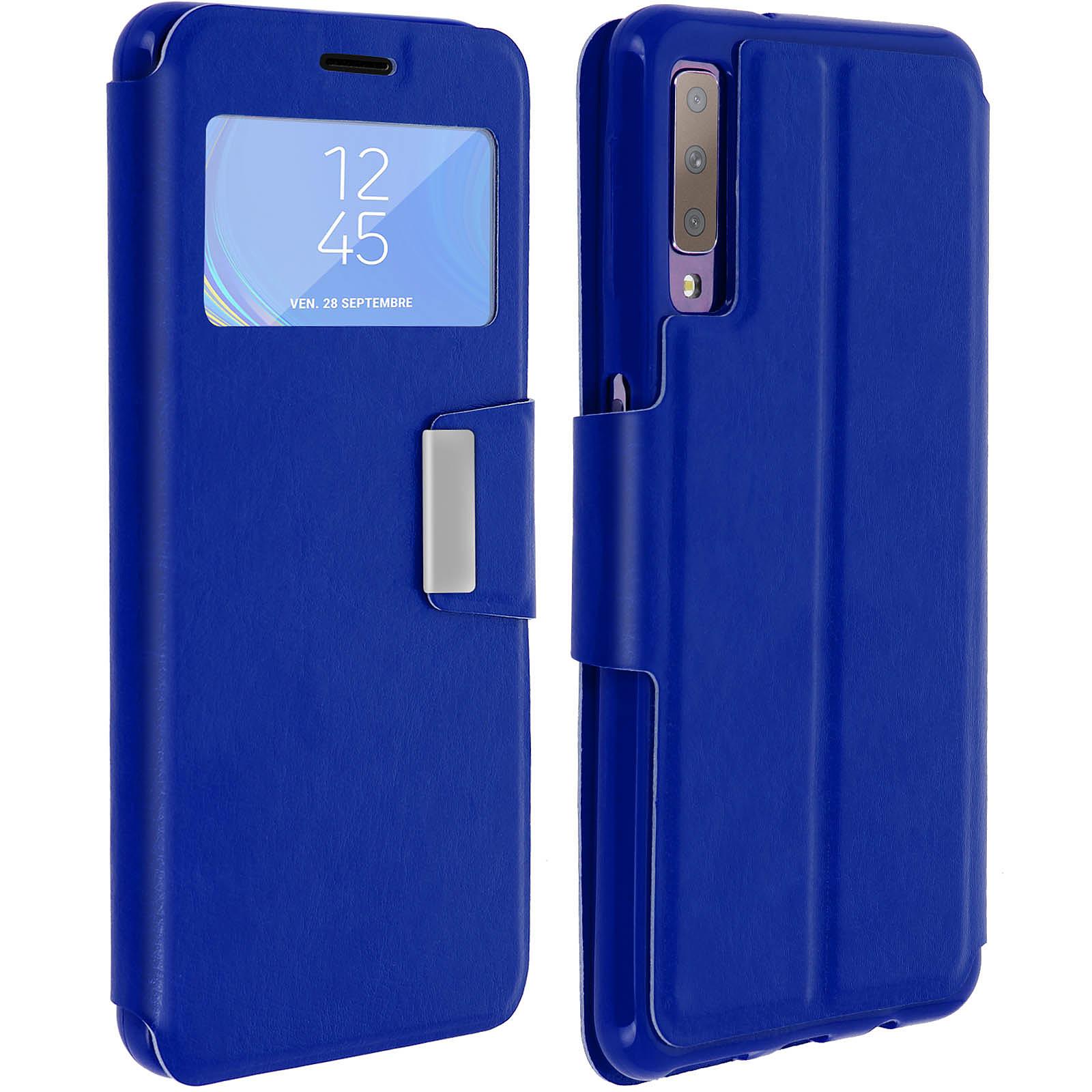 Avizar Etui folio Bleu pour Samsung Galaxy A7 2018