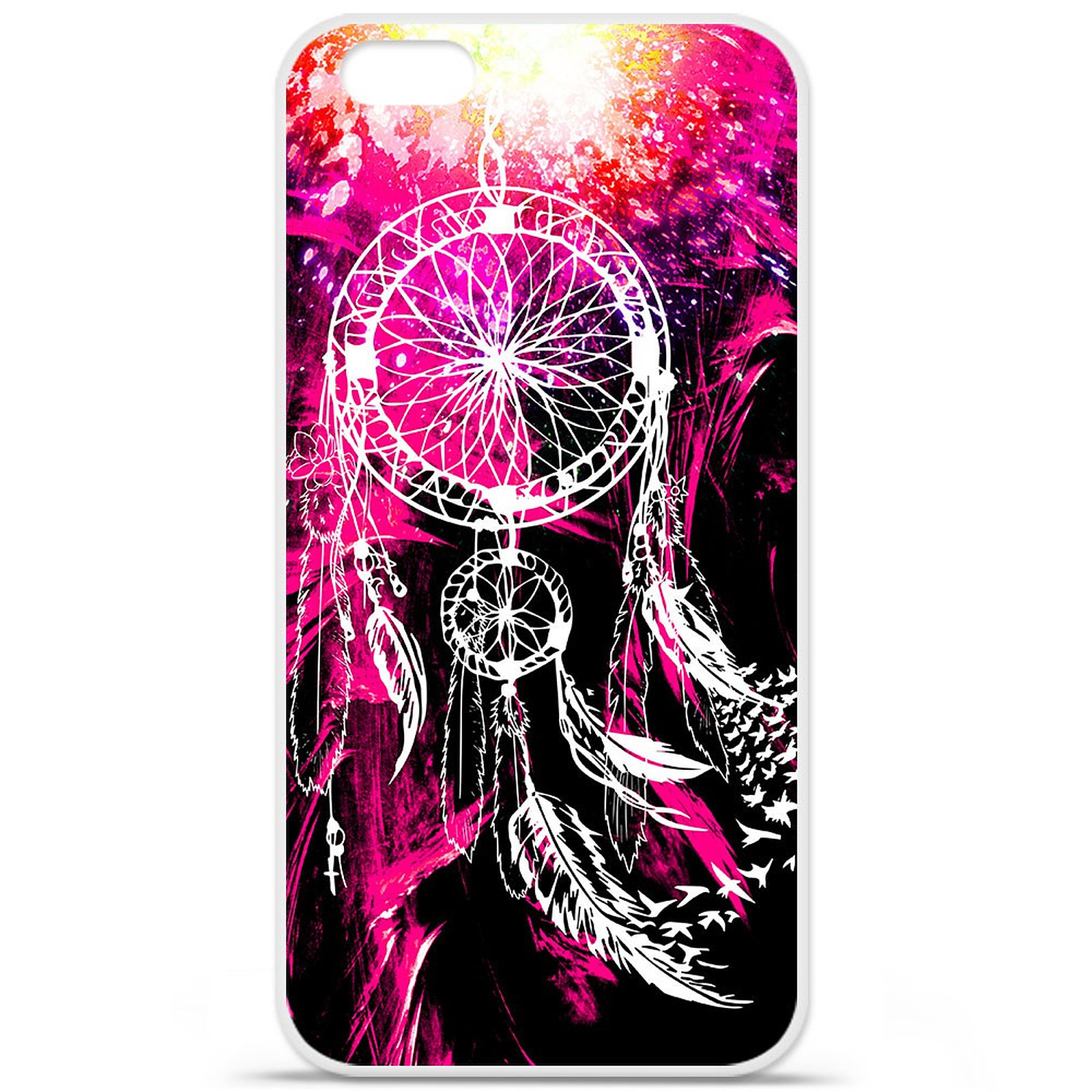 1001 Coques Coque silicone gel Apple IPhone 7 Plus motif Dreamcatcher Rose