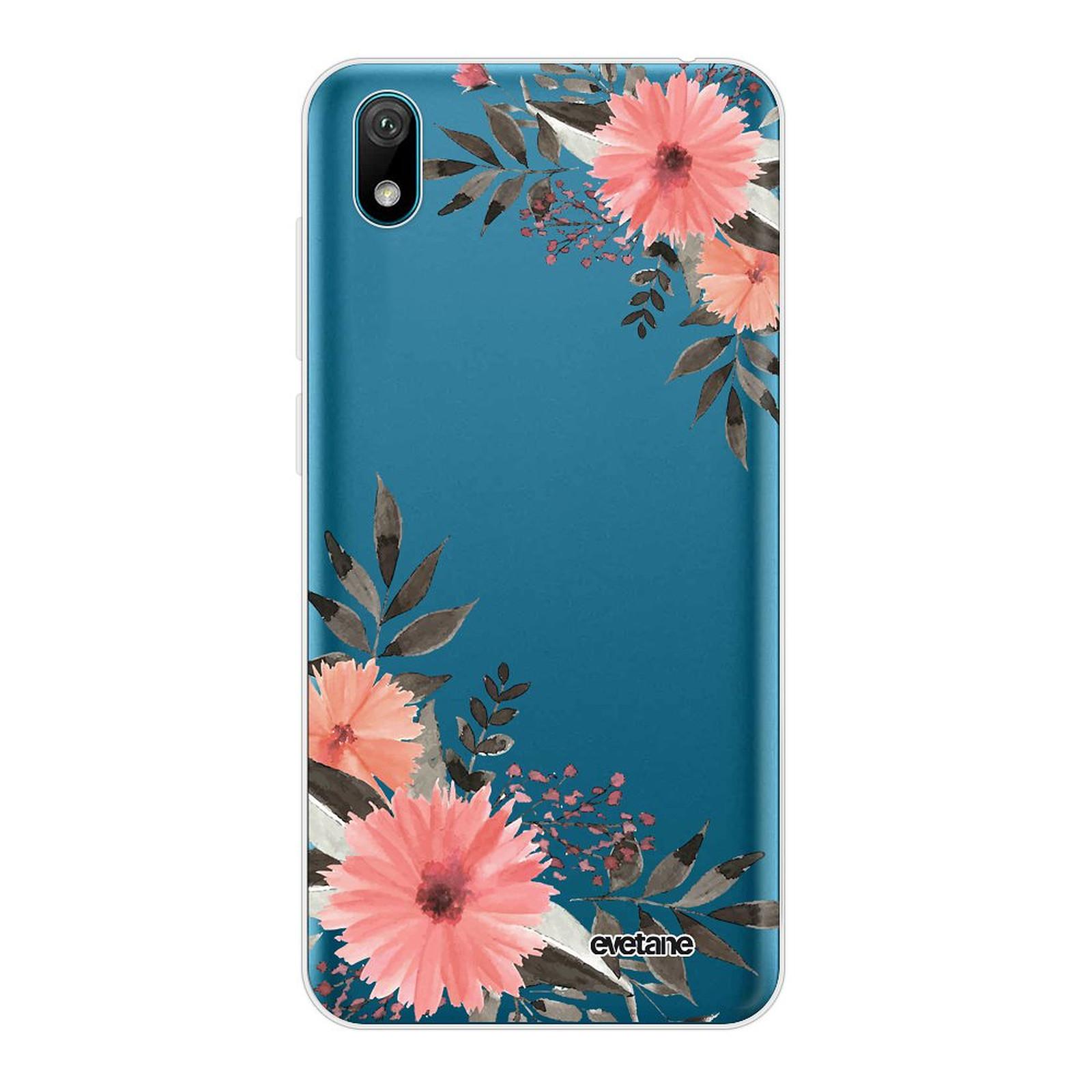 EVETANE Coque Huawei Y5 2019 souple transparente Fleurs roses - Coque téléphone Evetane sur LDLC