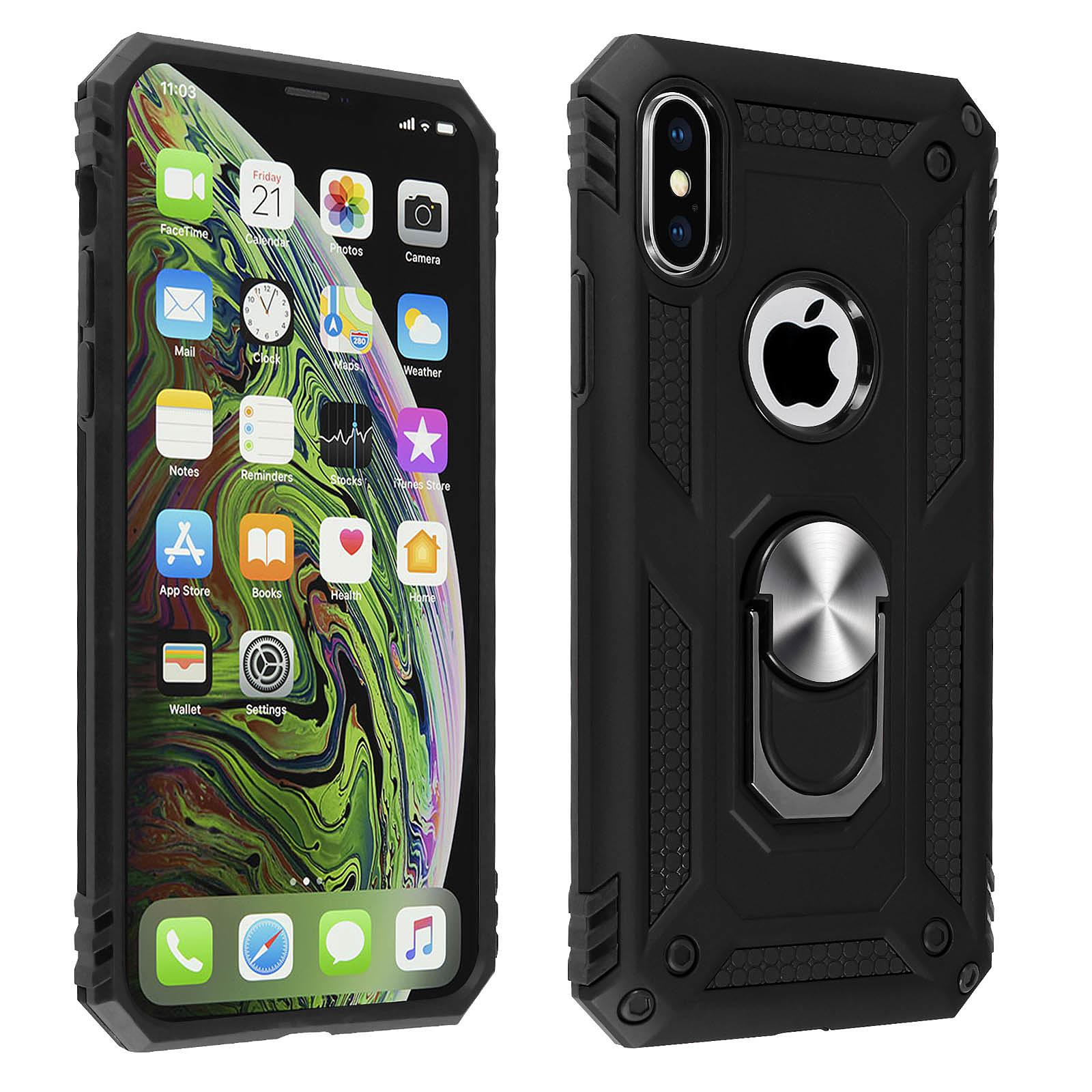 Avizar Coque Noir Bague de maintien pour Apple iPhone XS Max