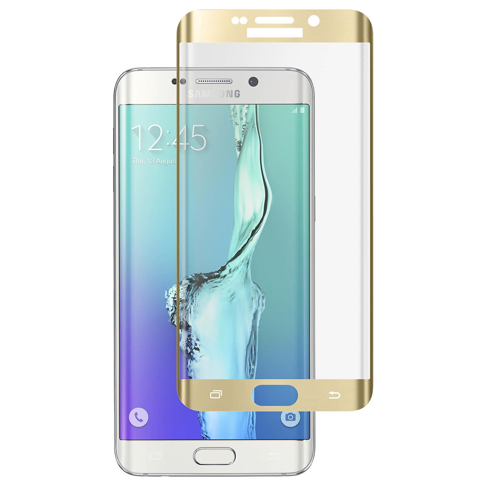 Avizar Film verre trempé Dorée pour Samsung Galaxy S6 Edge Plus
