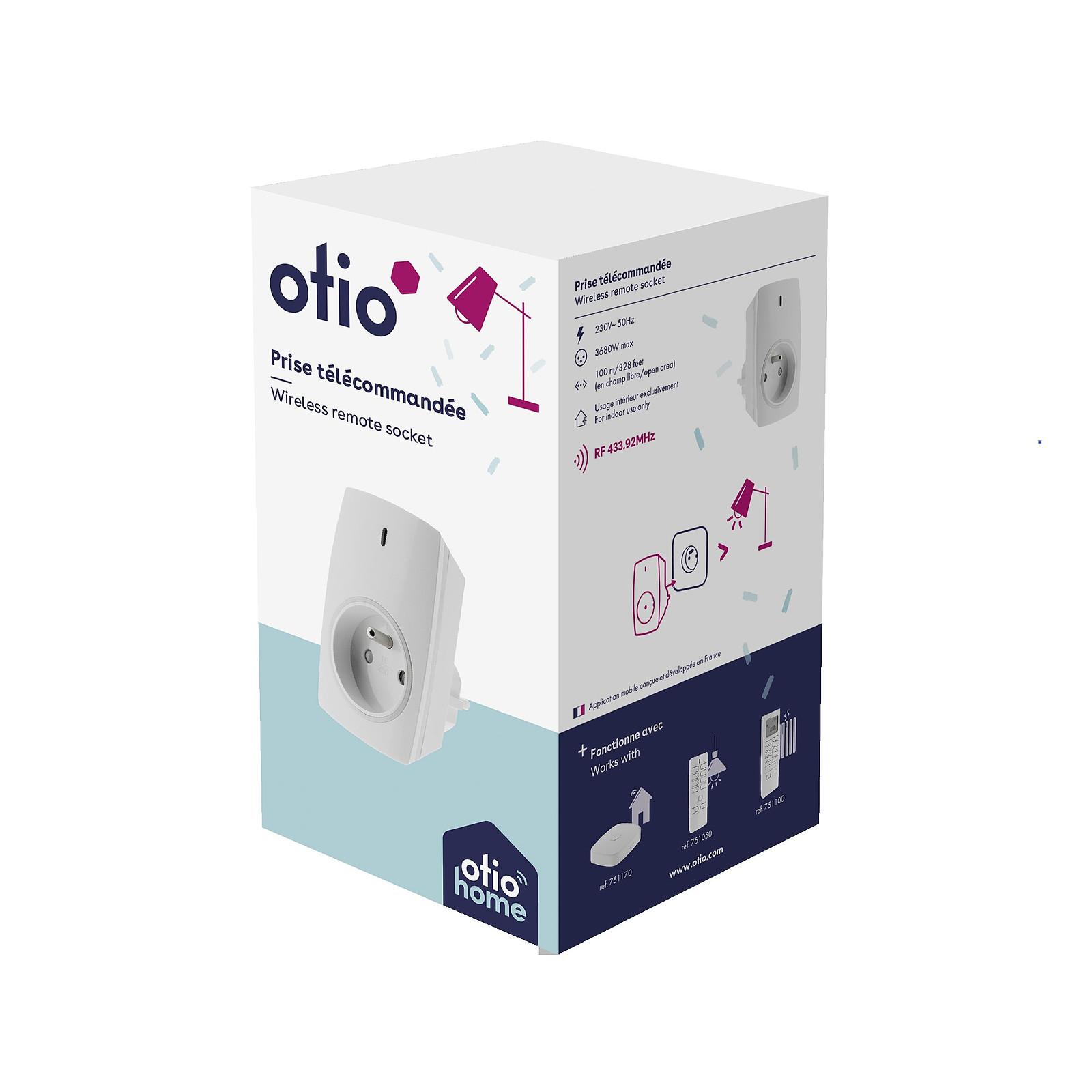 Otio Prise connectée pilotable à distance ou avec télécommande