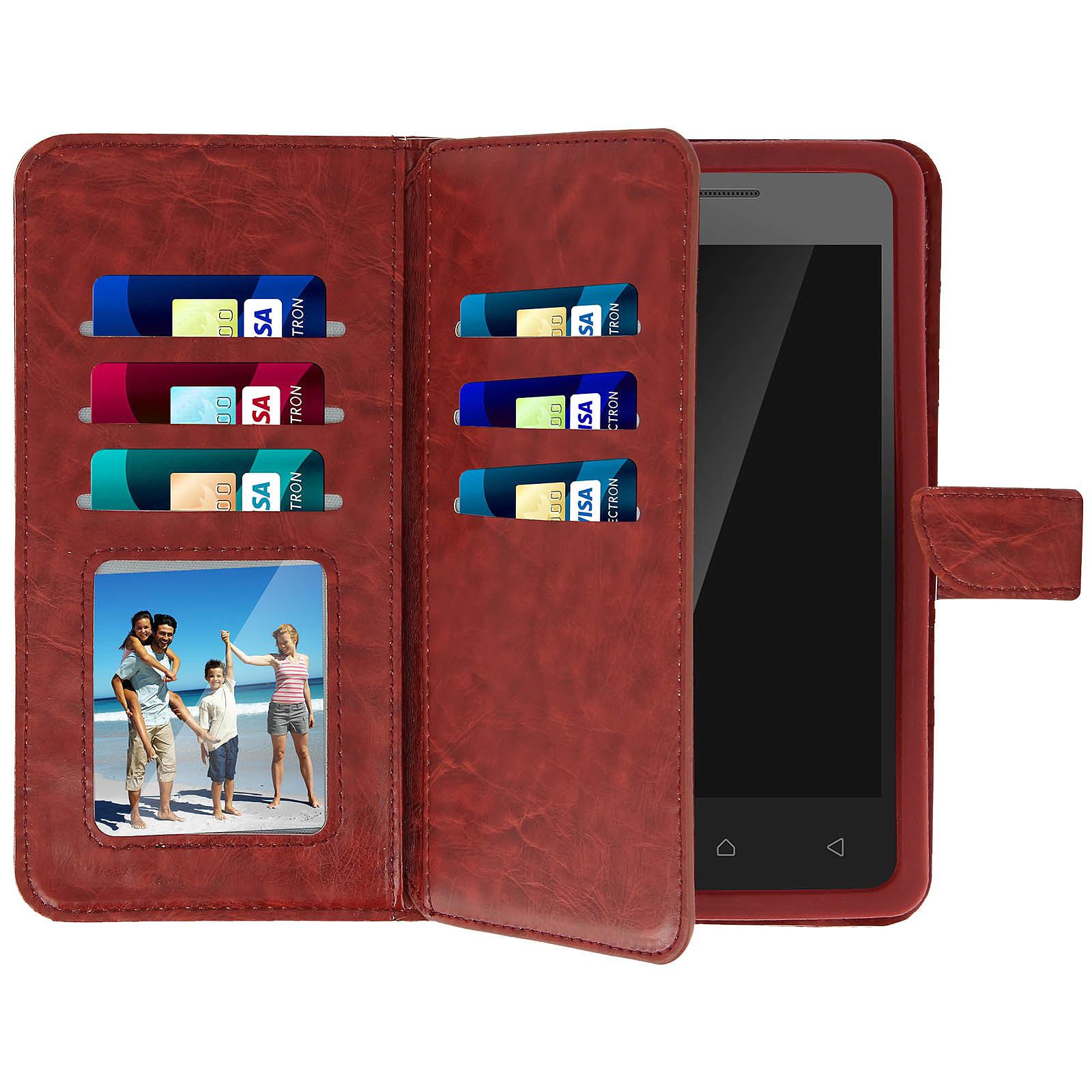 Avizar Etui folio Marron pour Smartphones de 4.3' à 4.7'