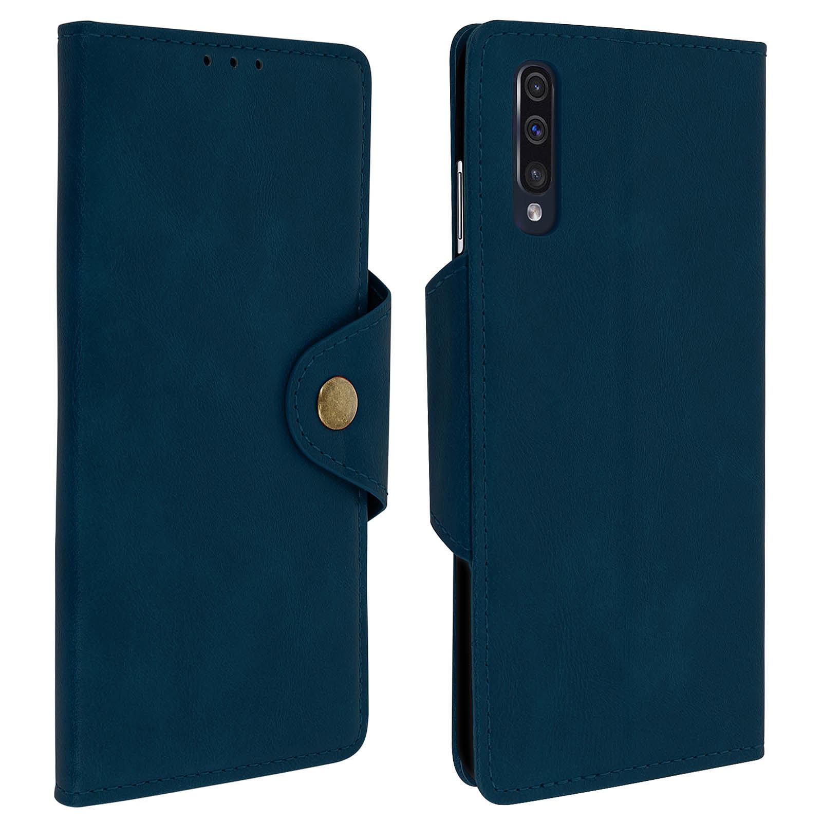 Avizar Etui folio Bleu Nuit pour Samsung Galaxy A50 , Samsung Galaxy A30s