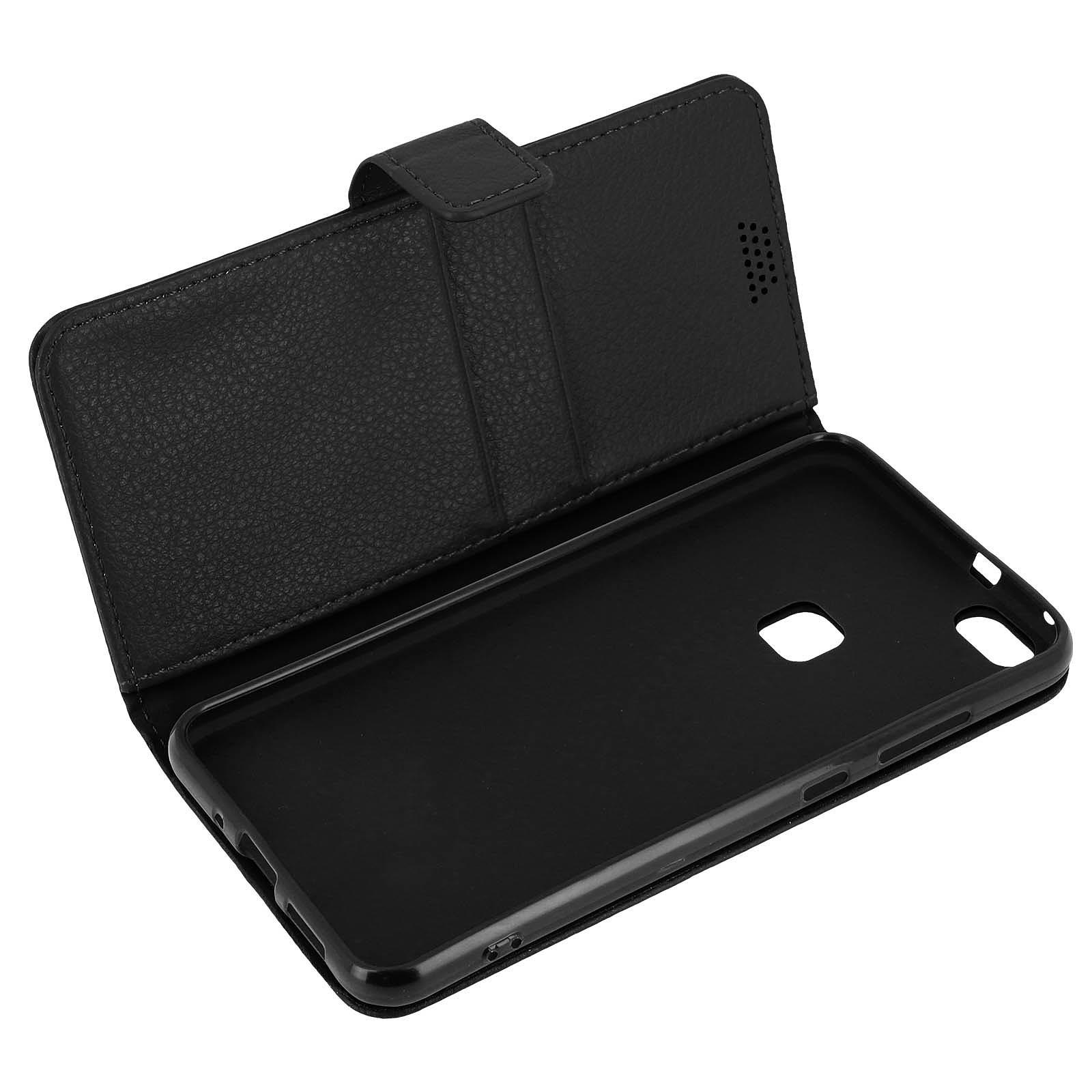 Avizar Etui folio Noir pour Huawei P10 Lite