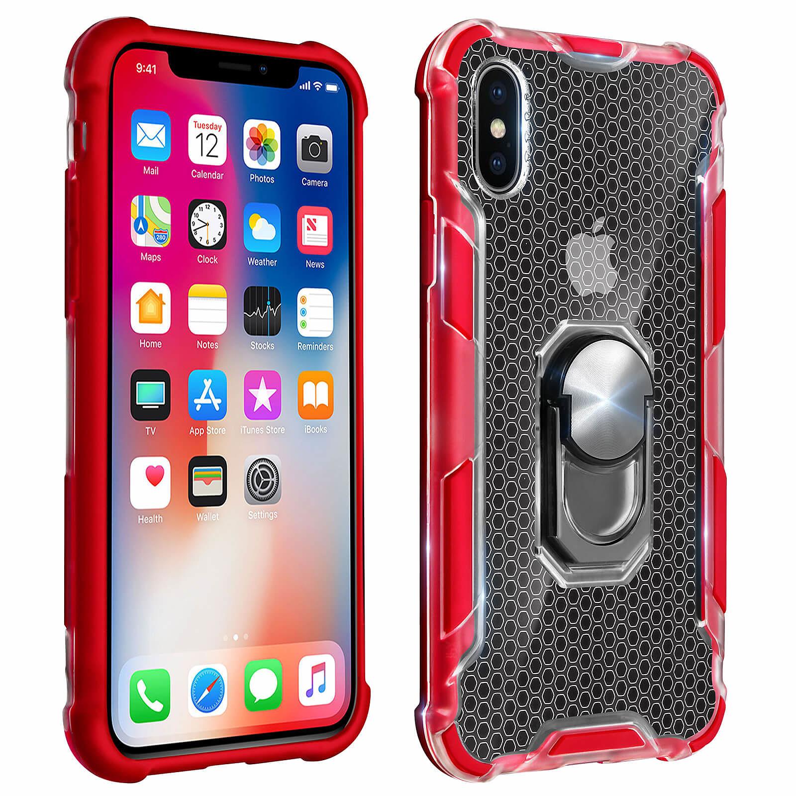 Avizar Coque Rouge Hybride pour Apple iPhone X , Apple iPhone XS