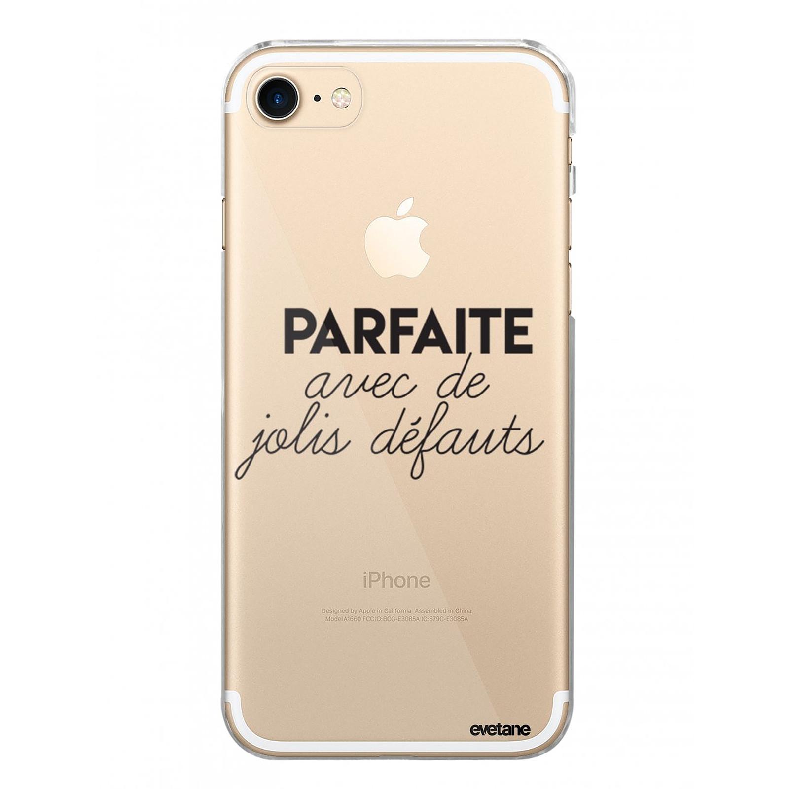 EVETANE Coque iPhone 7/8/ iPhone SE 2020 rigide transparente Parfaite Avec De Jolis Défauts Dessin - Coque téléphone Evetane sur LDLC
