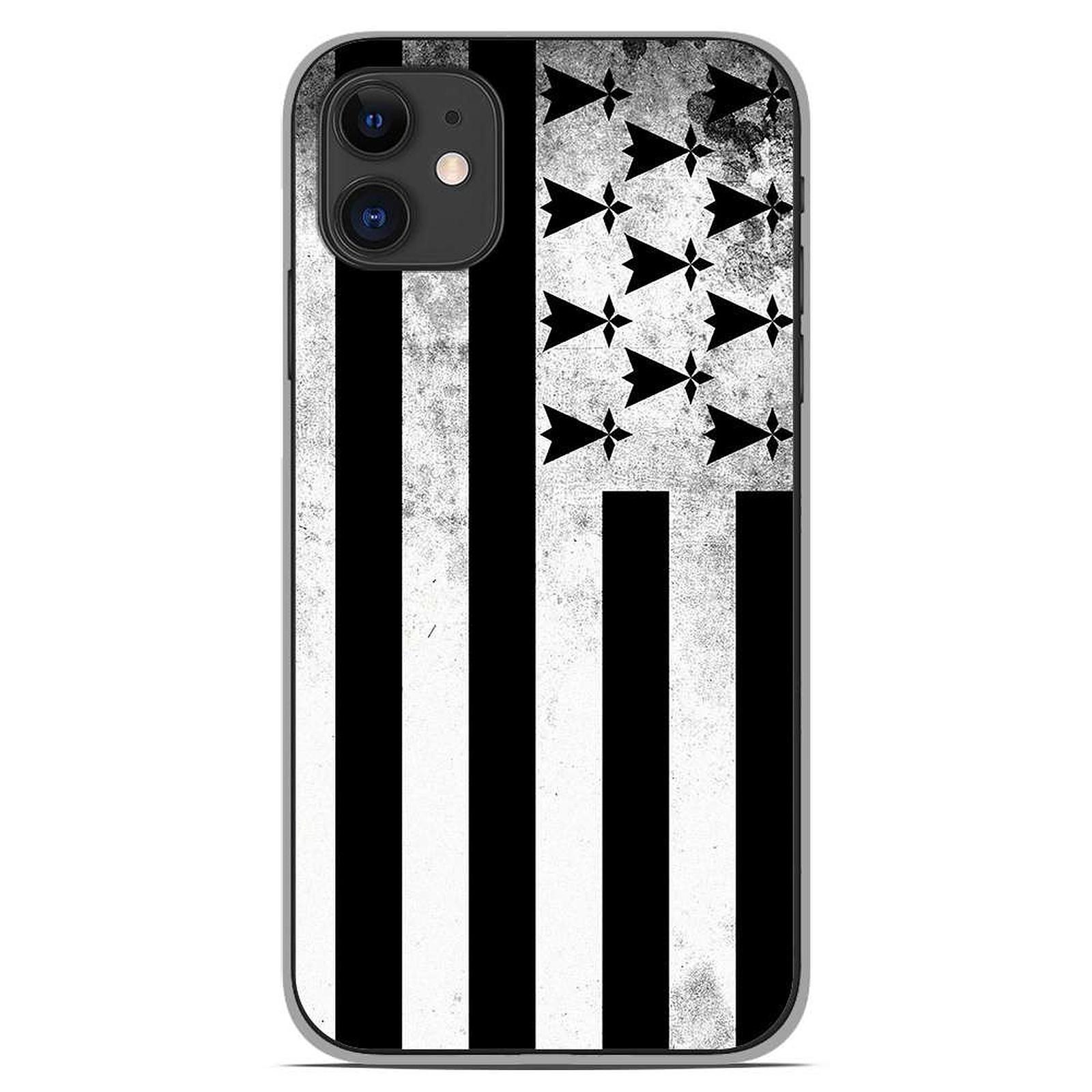 1001 Coques Coque silicone gel Apple iPhone 11 motif Drapeau Bretagne