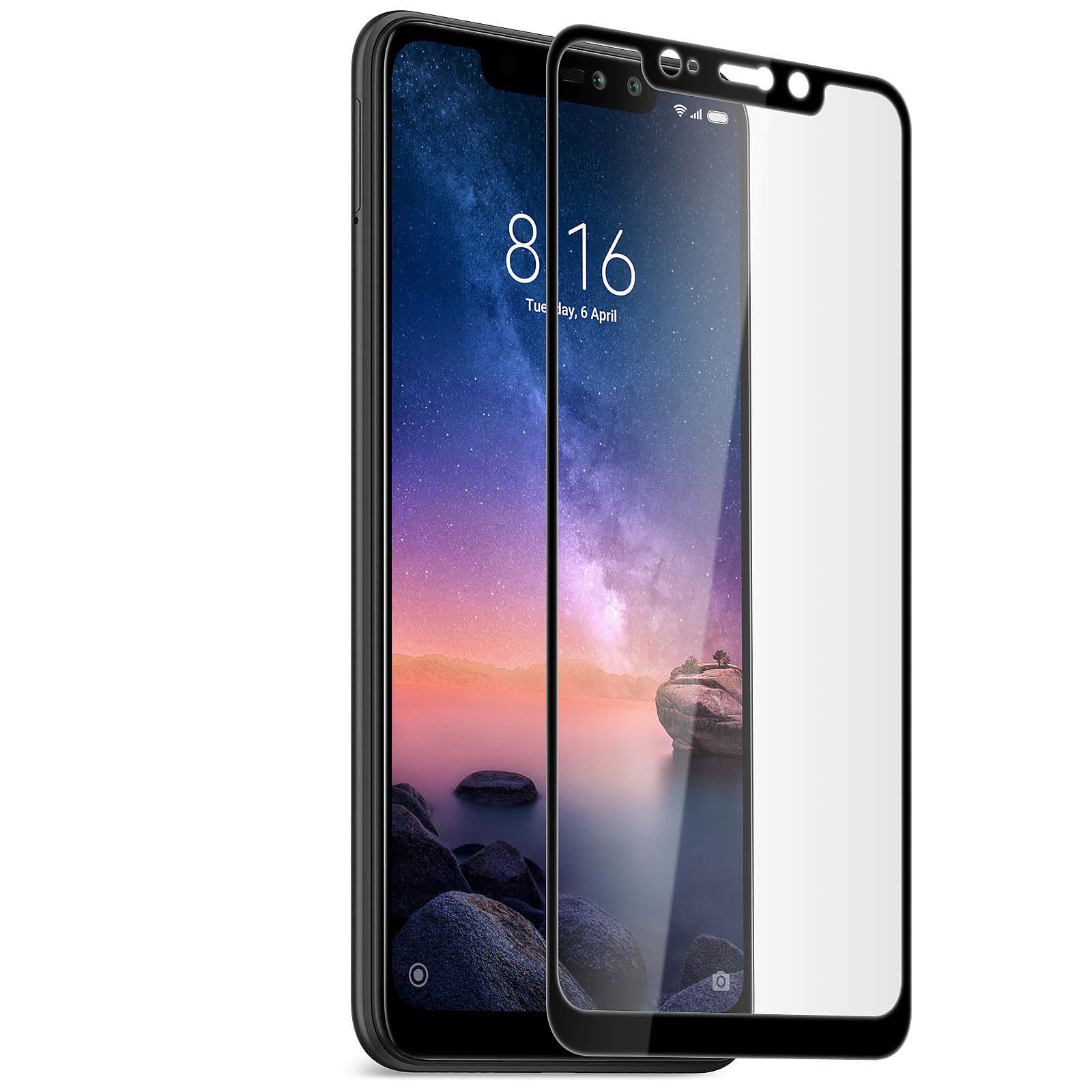 Avizar Film verre trempé Noir pour Xiaomi Redmi Note 6 Pro