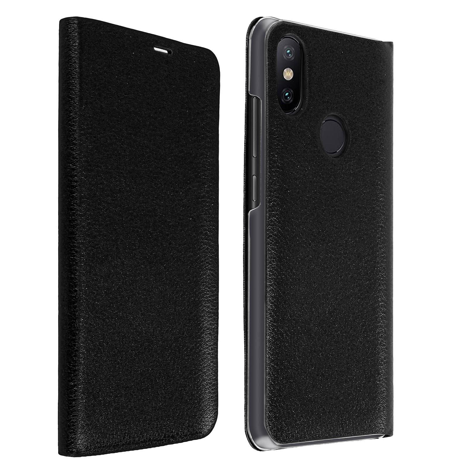 Avizar Etui folio Noir pour Xiaomi Mi A2