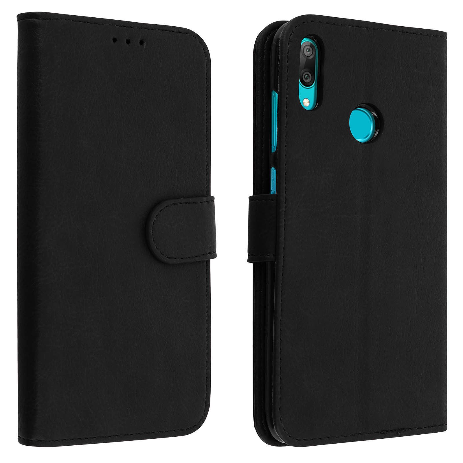 Avizar Etui folio Noir pour Huawei Y7 2019