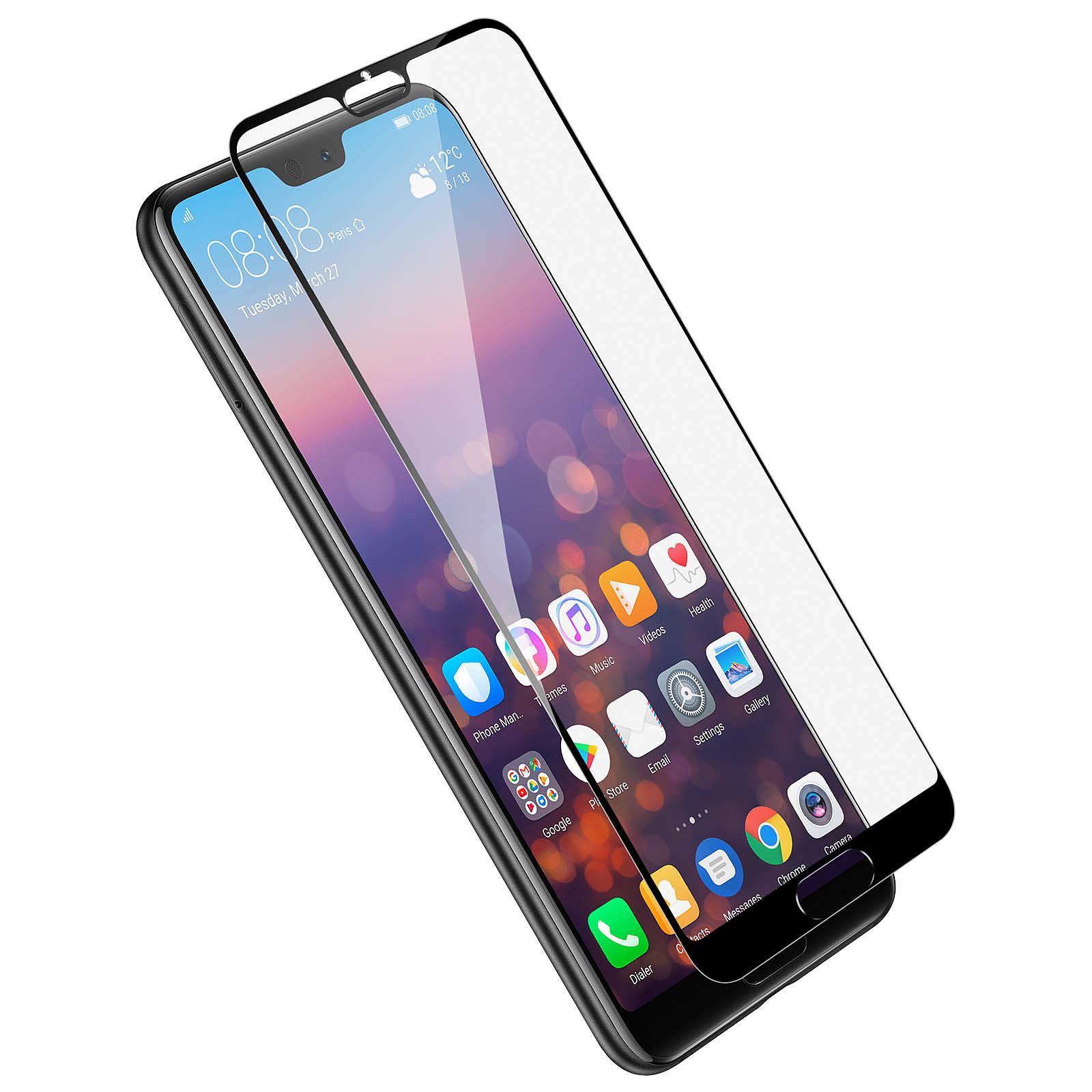 Avizar Film verre trempé Noir pour Huawei P20 Pro