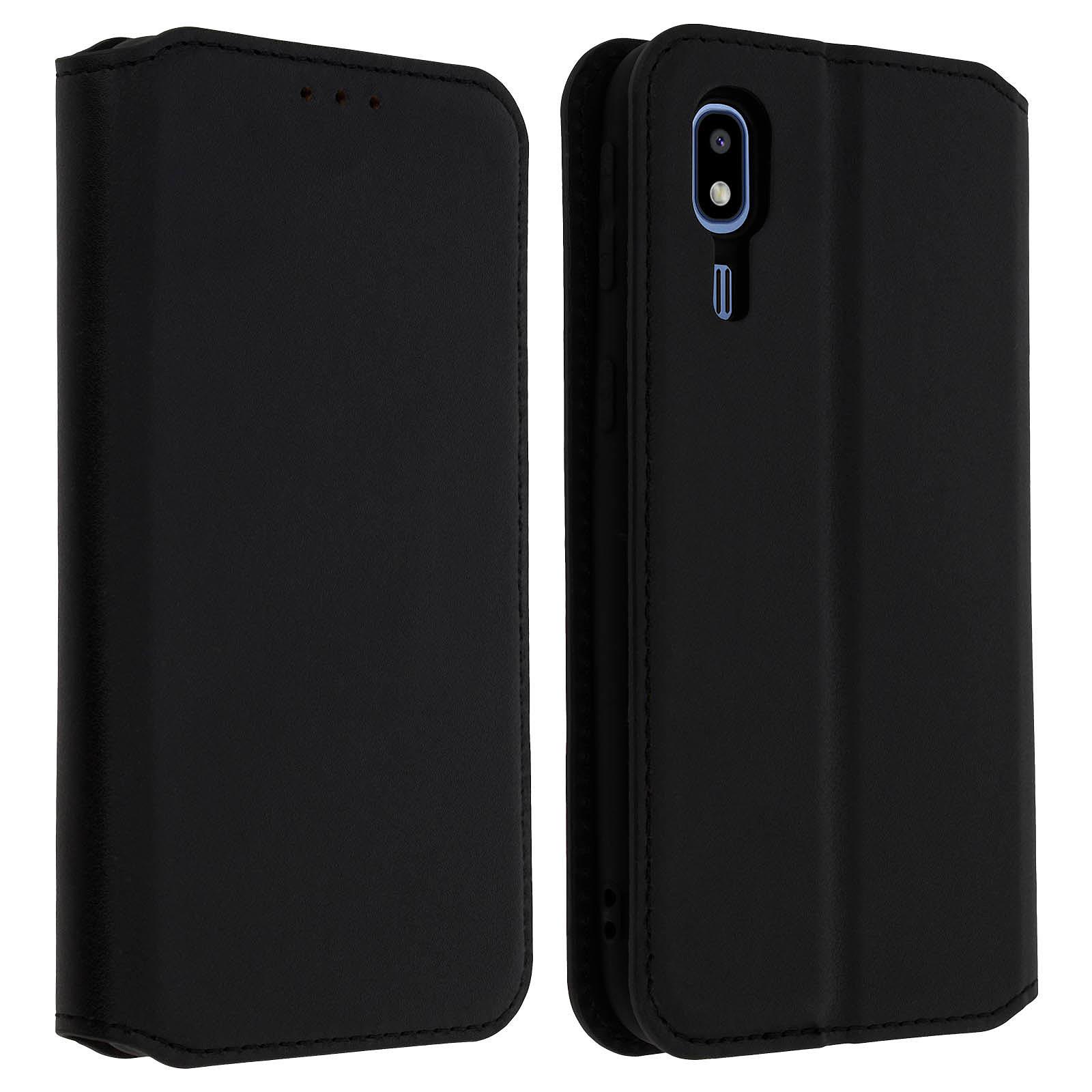 Avizar Etui folio Noir pour Samsung Galaxy A2 Core