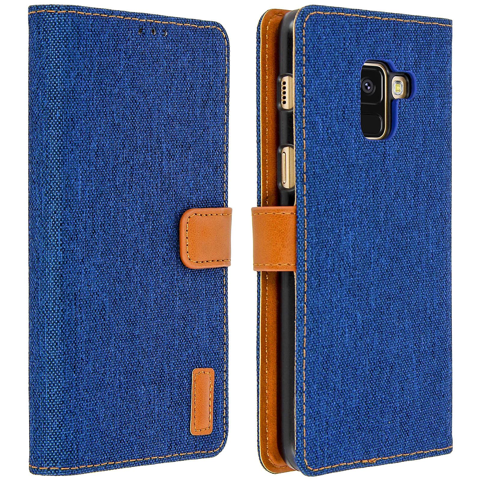 Avizar Etui folio Bleu pour Samsung Galaxy A8