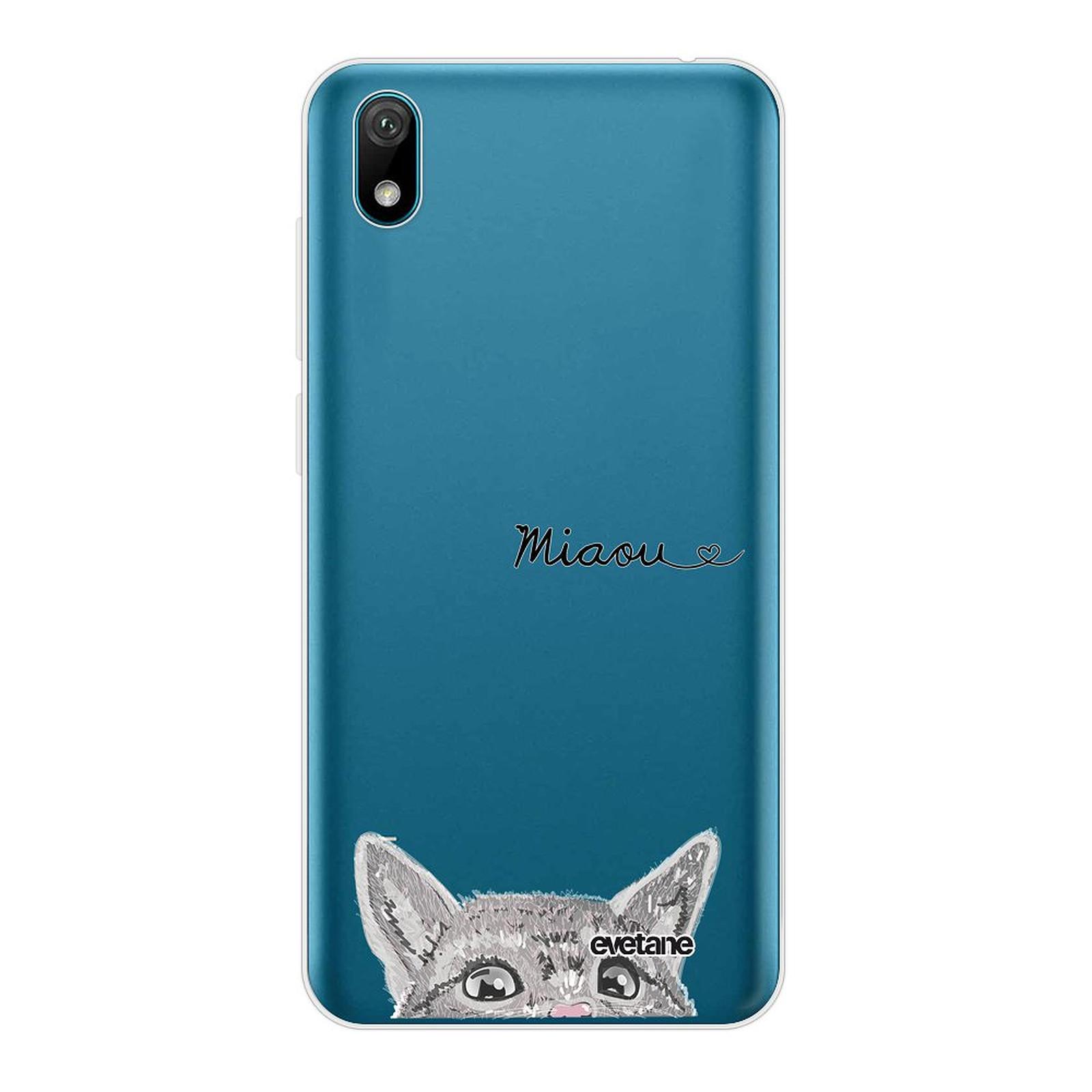 EVETANE Coque Huawei Y5 2019 souple transparente Chat Miaou - Coque téléphone Evetane sur LDLC