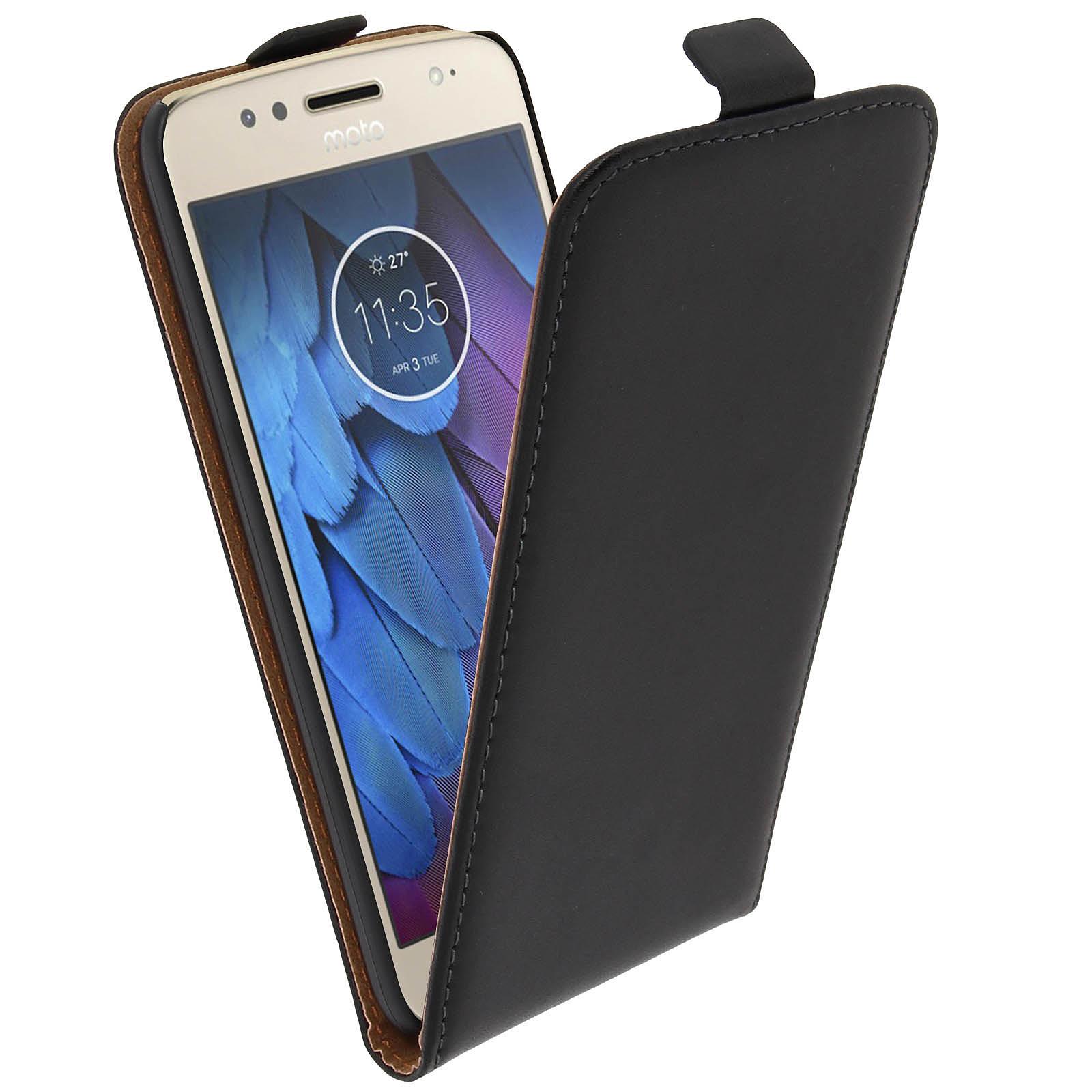 Avizar Etui à clapet Noir pour Motorola Moto G5S