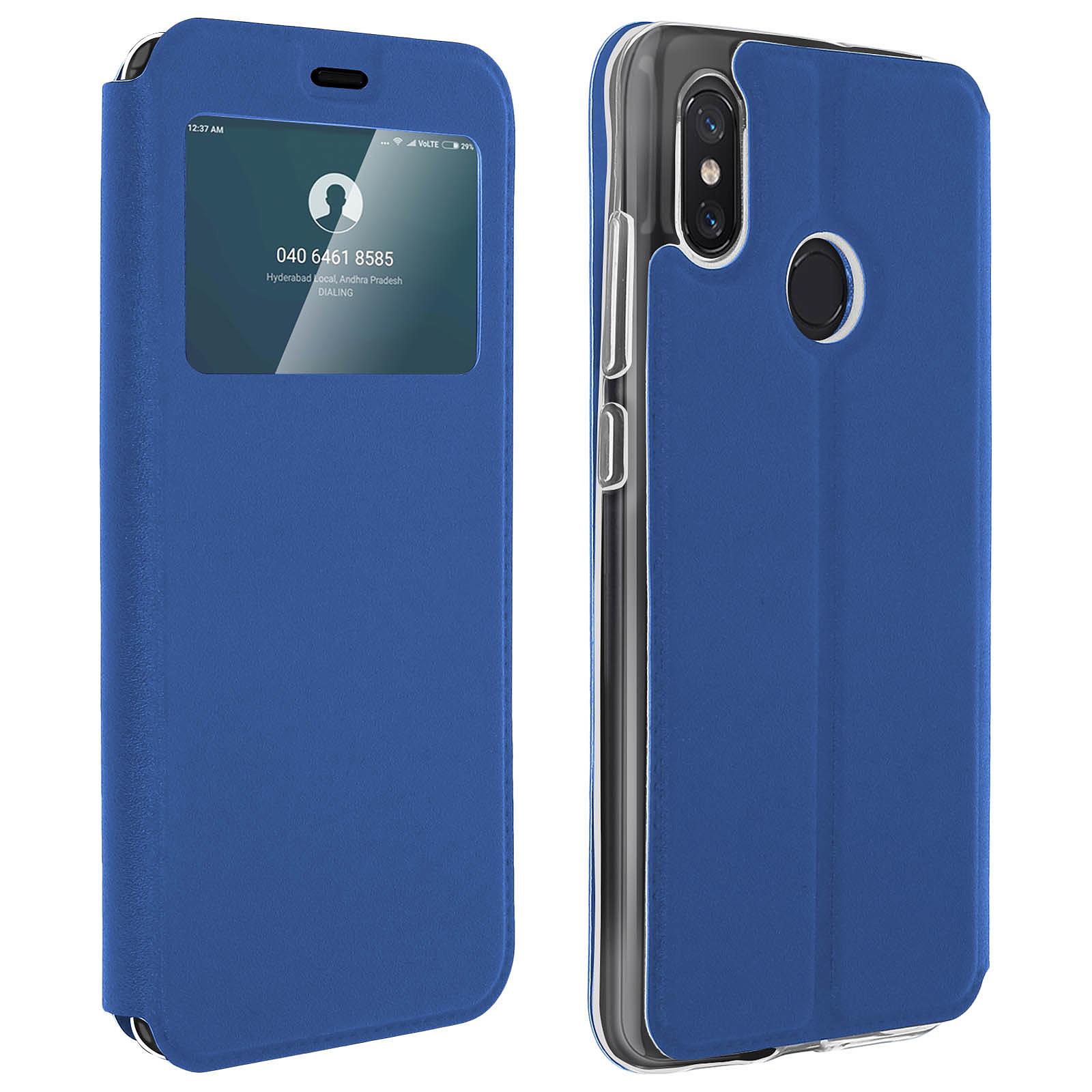 Avizar Etui folio Bleu pour Xiaomi Mi 8 , Xiaomi Mi 8 Pro