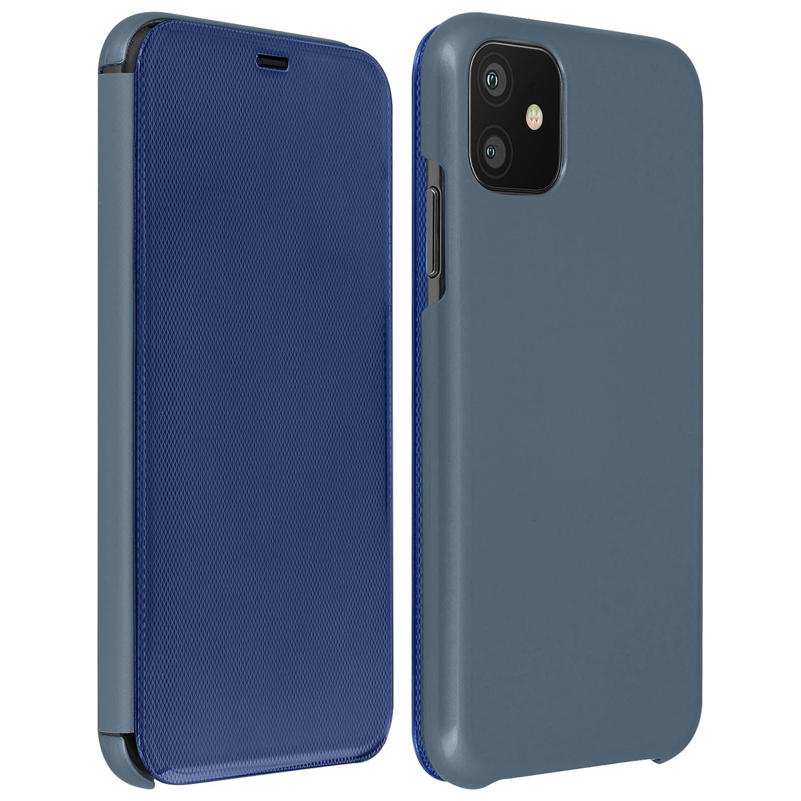 Avizar Etui folio Bleu pour Apple iPhone 11