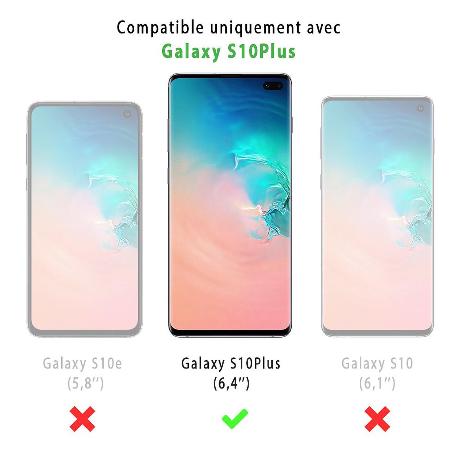 EVETANE Coque Samsung Galaxy S10 Plus 360 intégrale transparente Loup geometrique Tendance