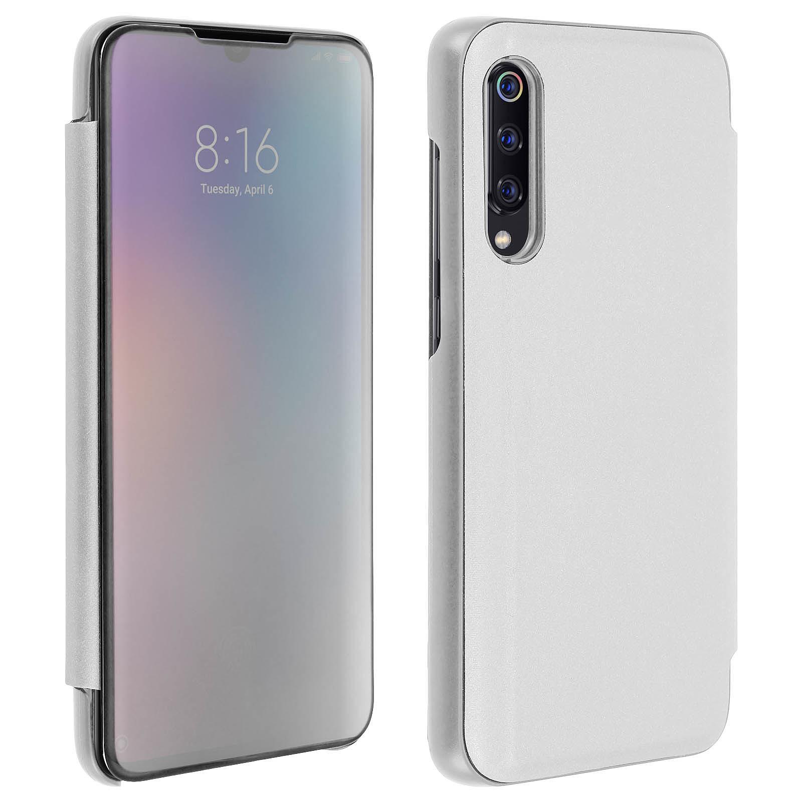 Avizar Etui folio Argent pour Xiaomi Mi 9