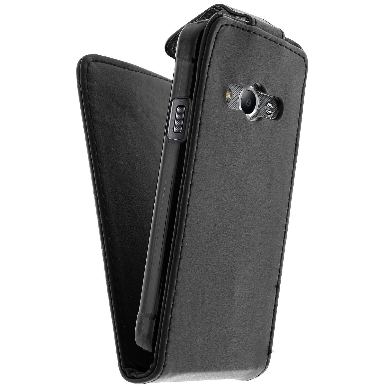 Avizar Etui à clapet Noir pour Samsung Galaxy Xcover 3