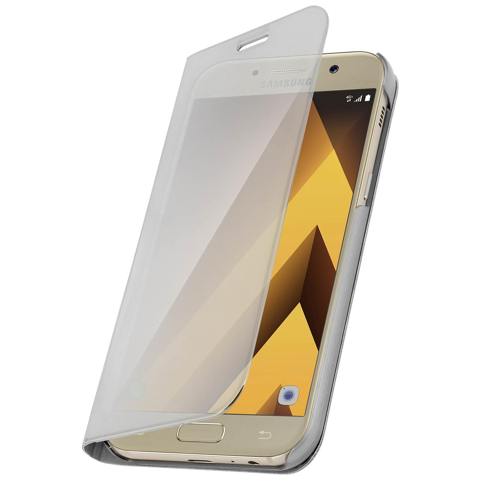 Avizar Etui folio Argent pour Samsung Galaxy A5 2017